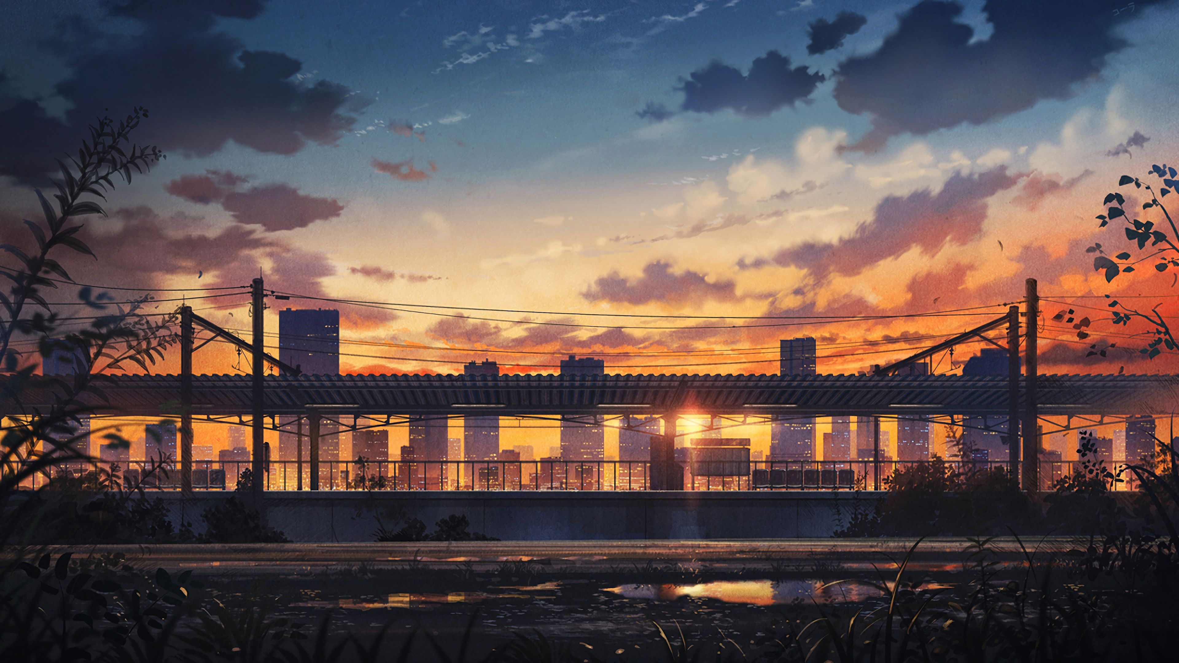 Sunset City Anime Wallpapers - Wallpaper Cave