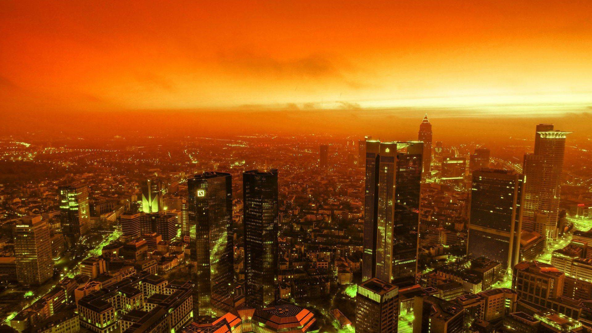 Anime Sunset City Wallpapers - Wallpaper Cave