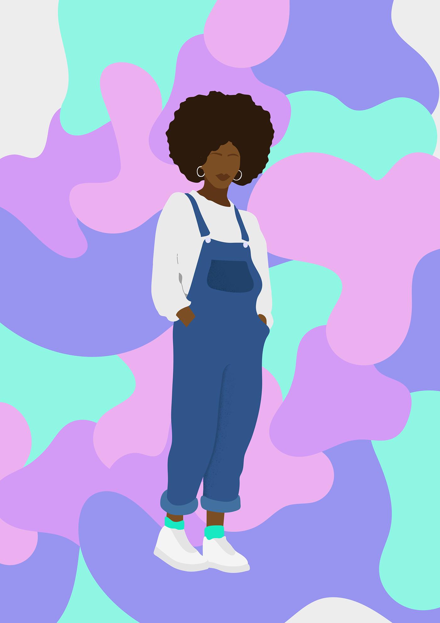 Black Girl Cartoon Phone Wallpapers Wallpaper Cave