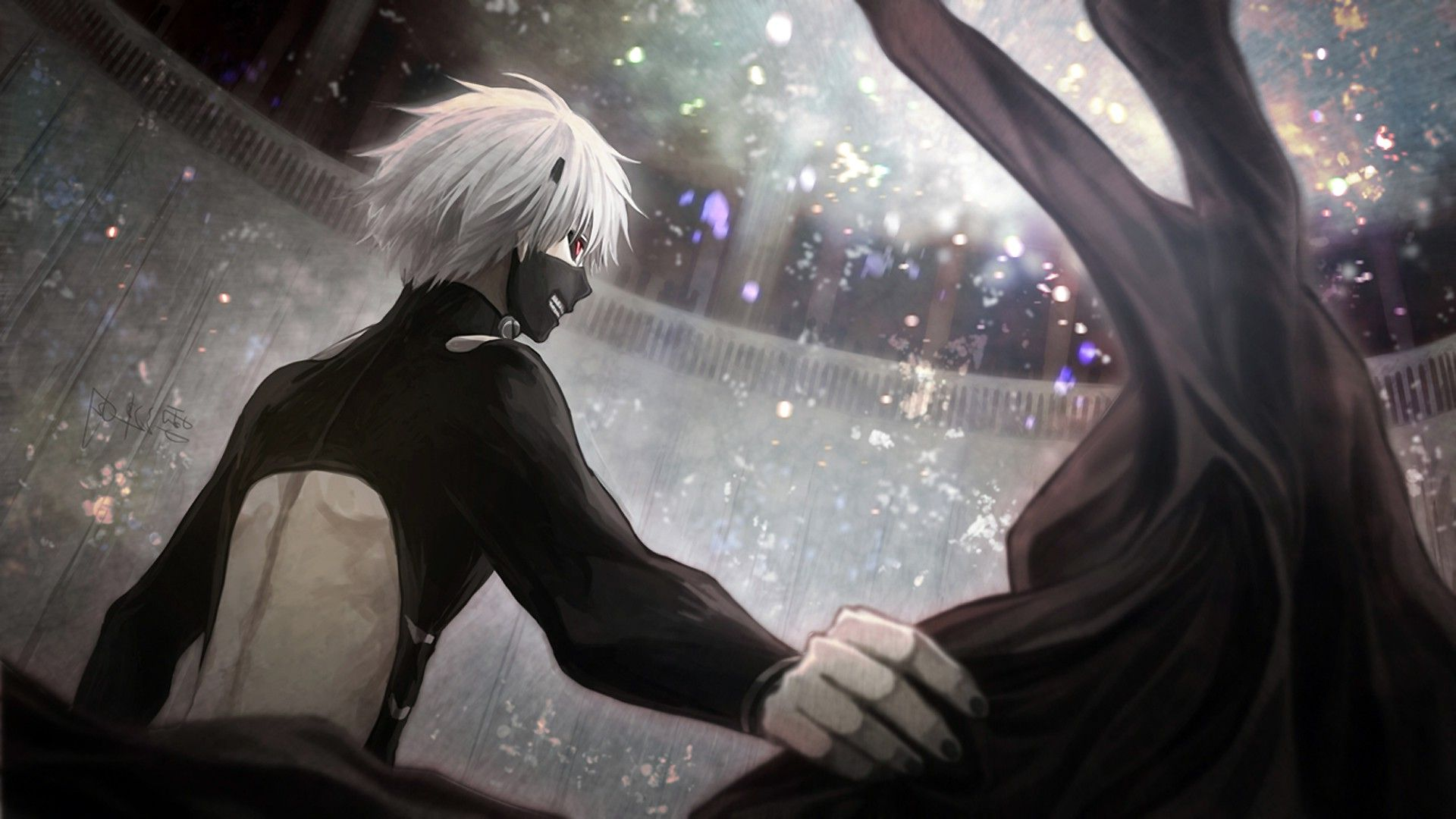 Tokyo Ghoul, Kaneki Ken, Anime, Anime Boys, Red Eyes, Grey Hair