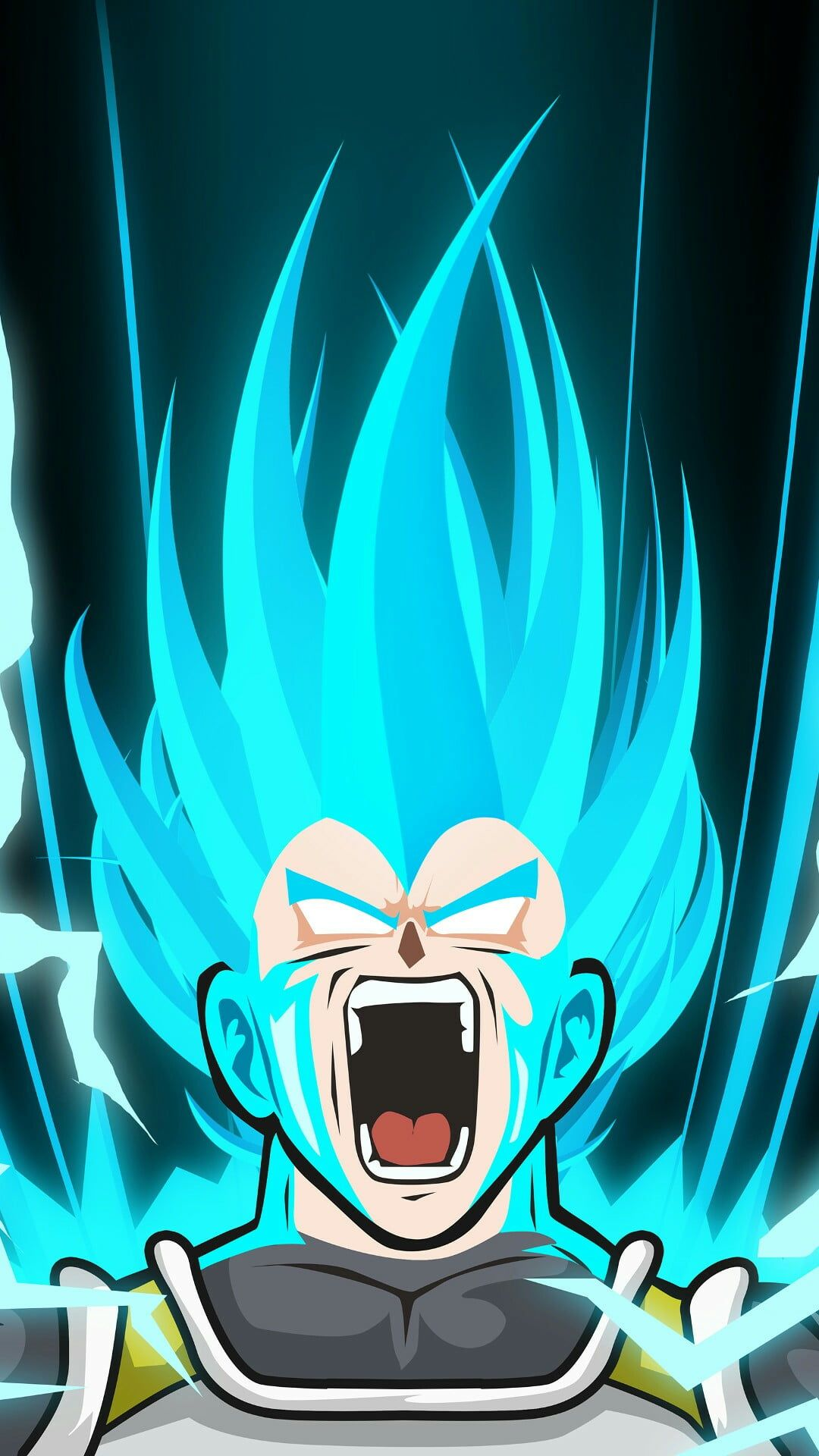 Vegeta Blue Iphone Wallpapers Wallpaper Cave