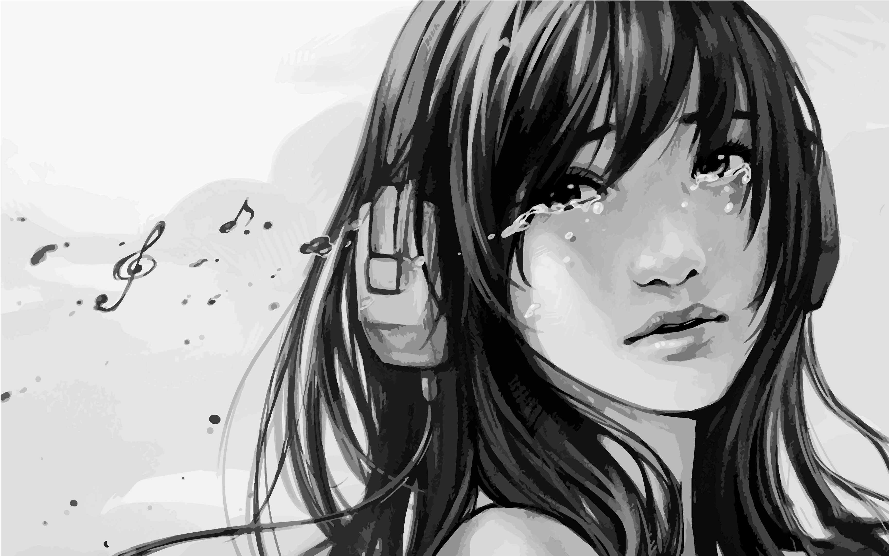 Anime Broken Heart Girl Painting Wallpapers Wallpaper Cave