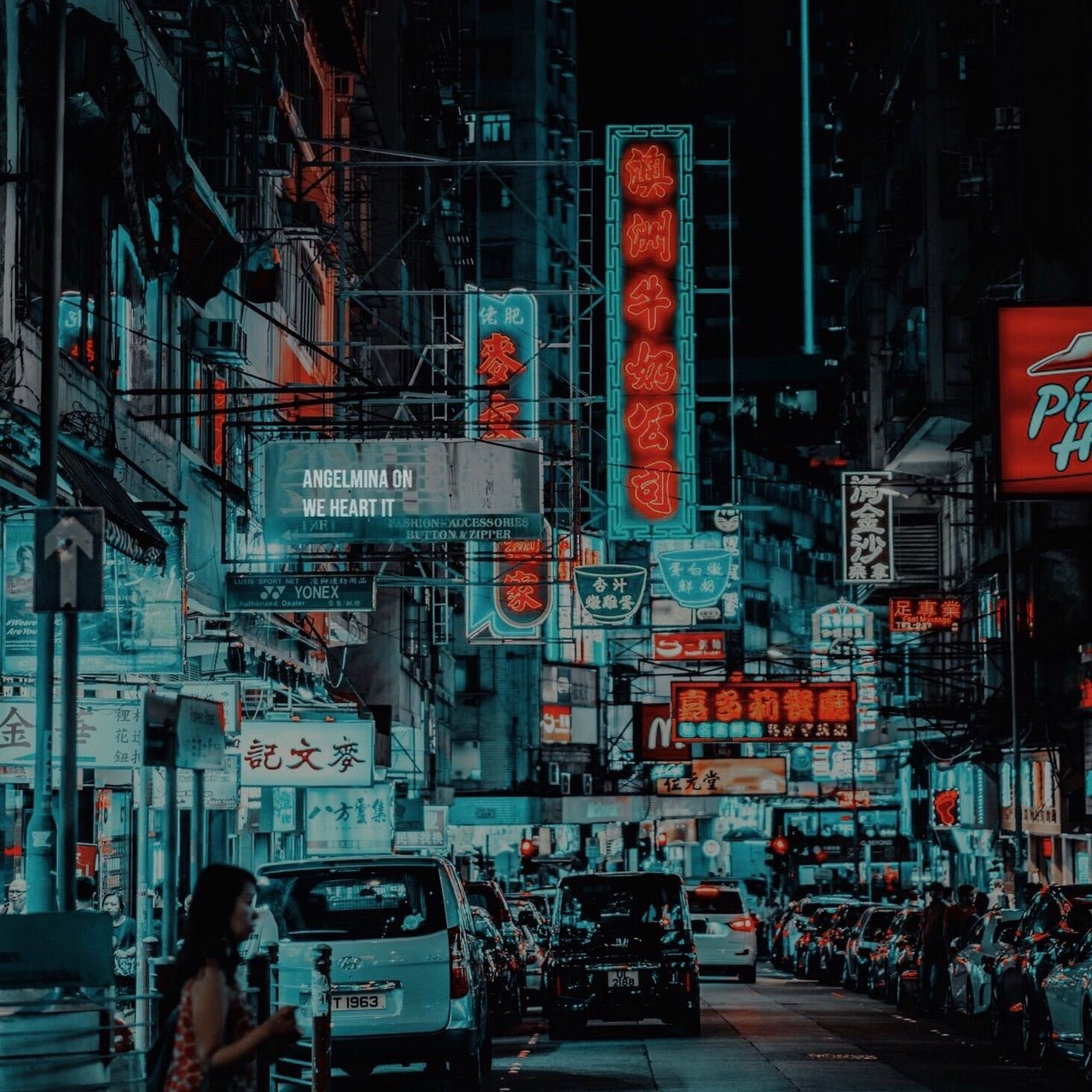 aesthetic, japan background, city wallpapers tumblr and neon colors