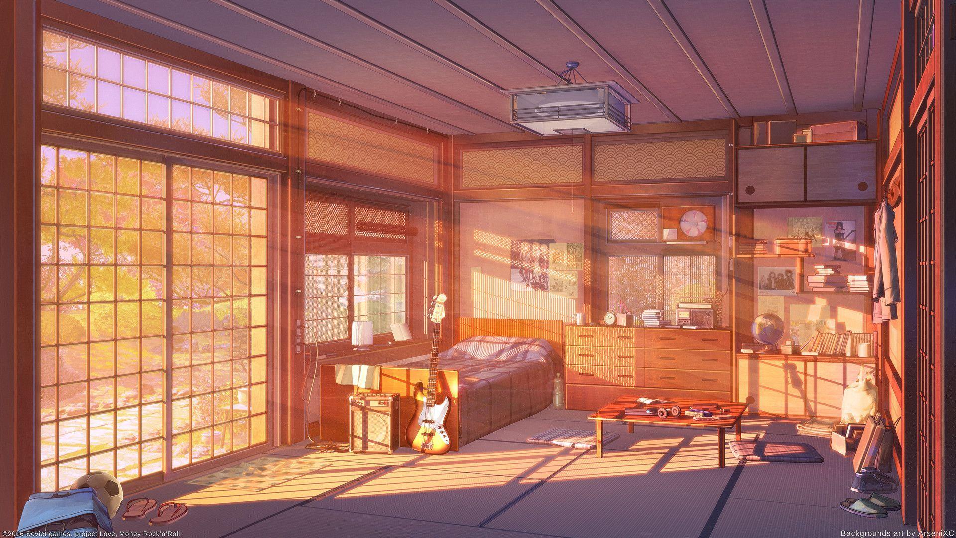 Anime Bedroom Scenery Wallpapers Wallpaper Cave