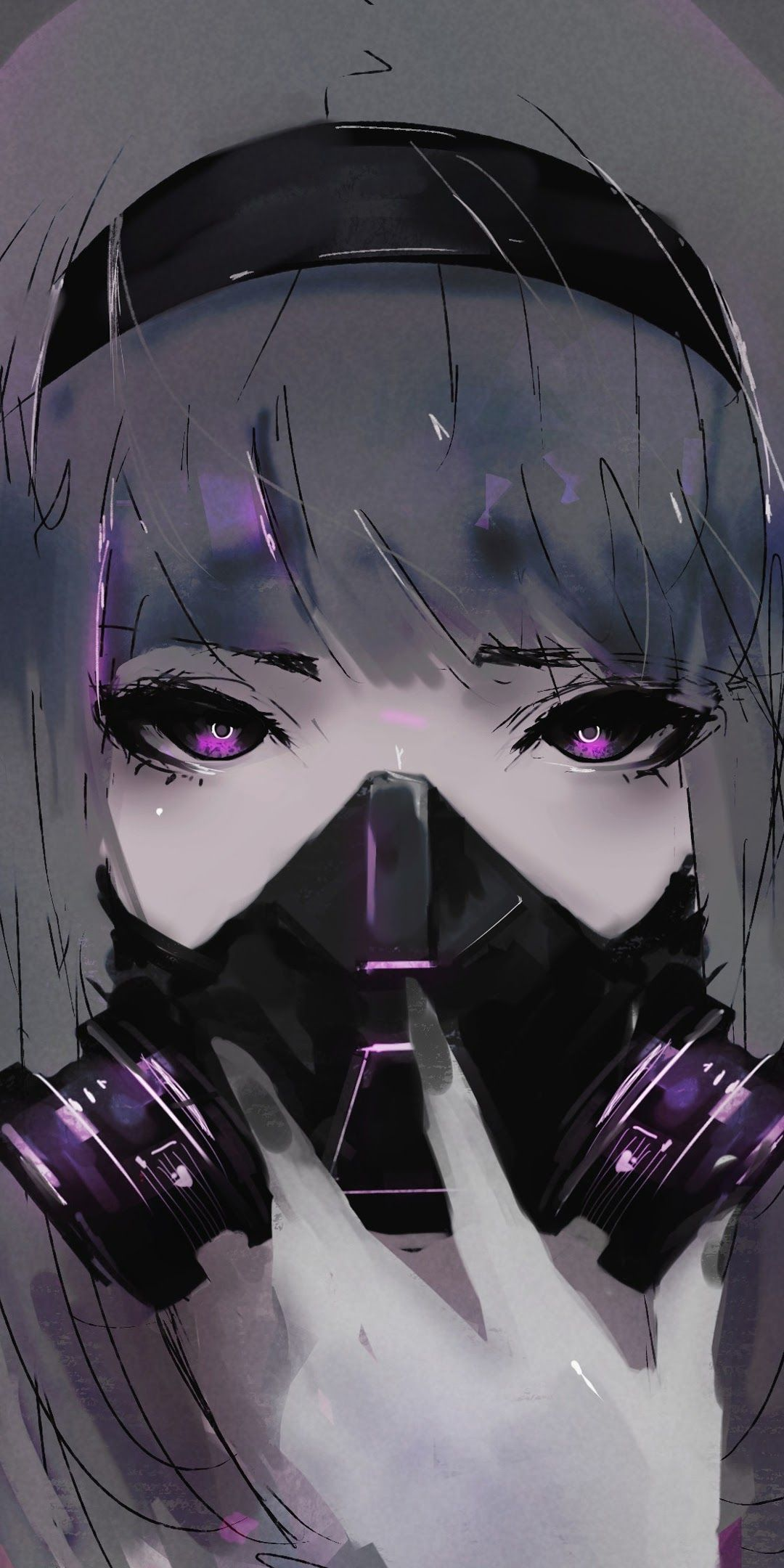Anime Girl With Mask Wallpapers - Wallpaper Cave