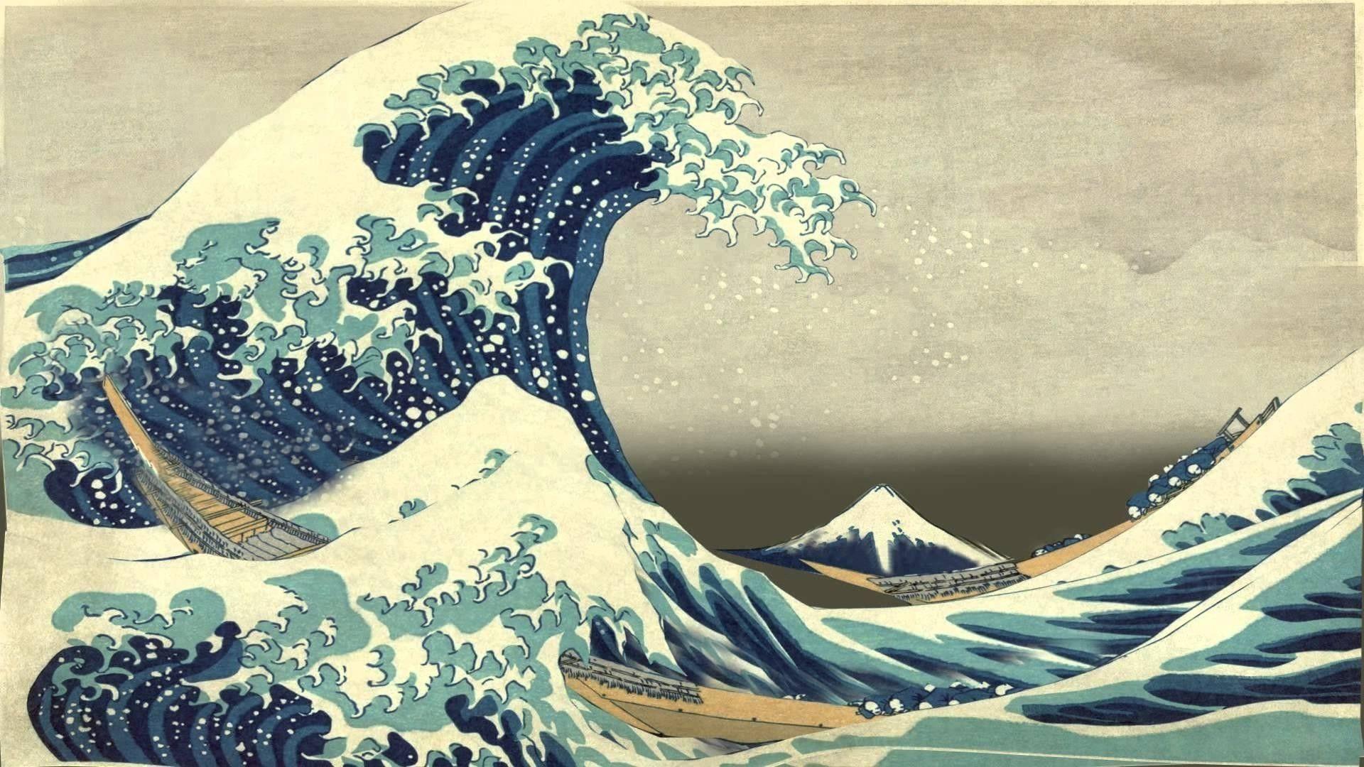 The Great Wave Off Kanagawa Hd Wallpapers Wallpaper Cave