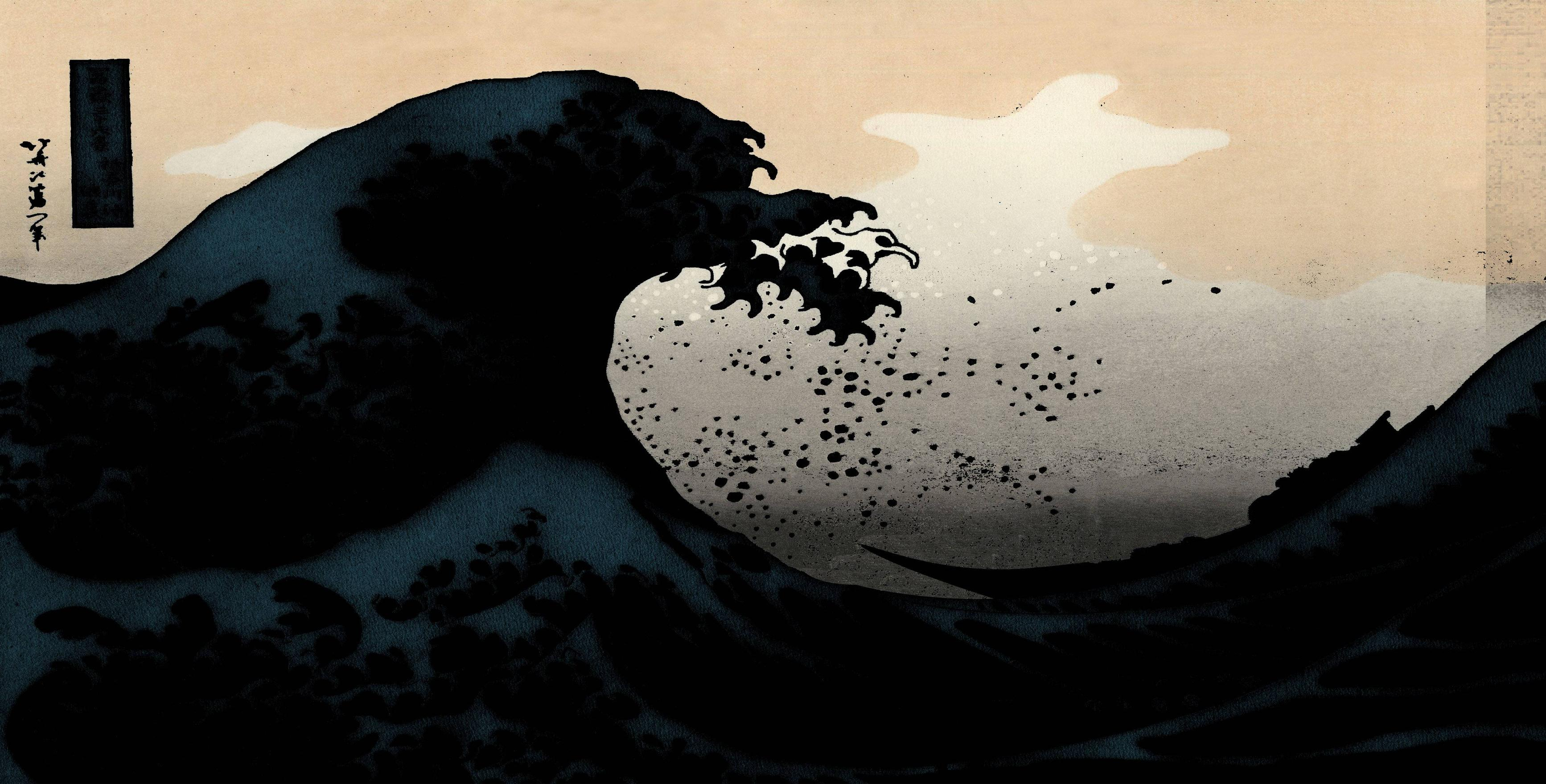 The Great Wave Off Kanagawa Hd Wallpapers Wallpaper Cave