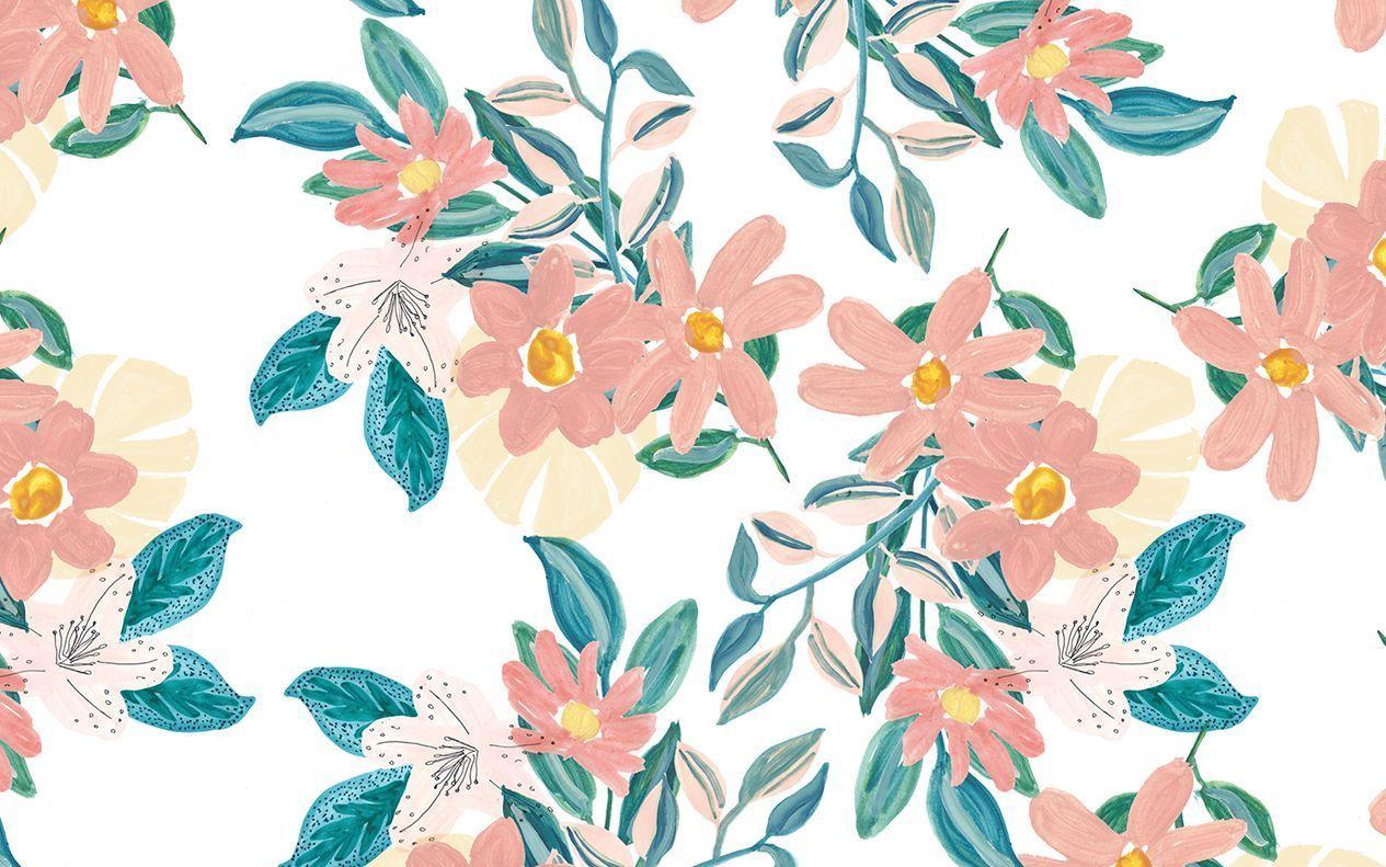 Aesthetic Flower Laptop Wallpapers Wallpaper Cave