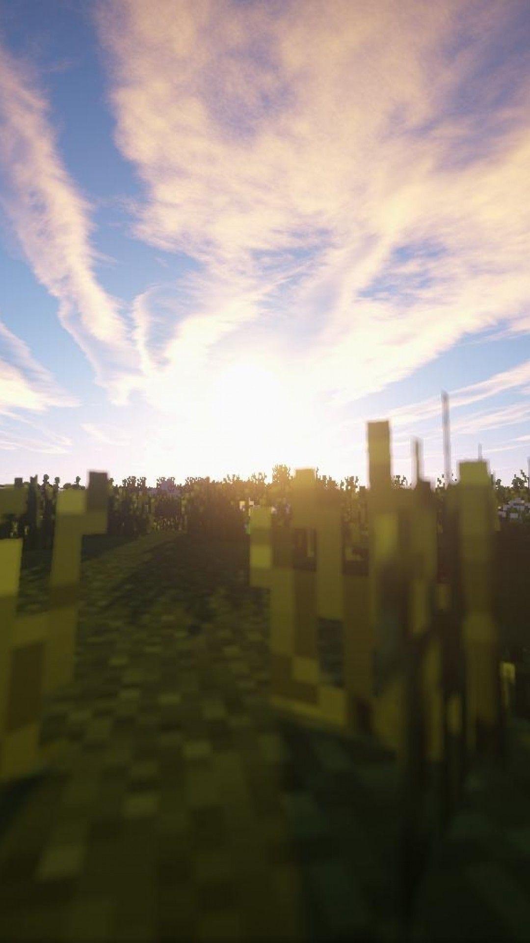 Minecraft Sunset Wallpapers Wallpaper Cave