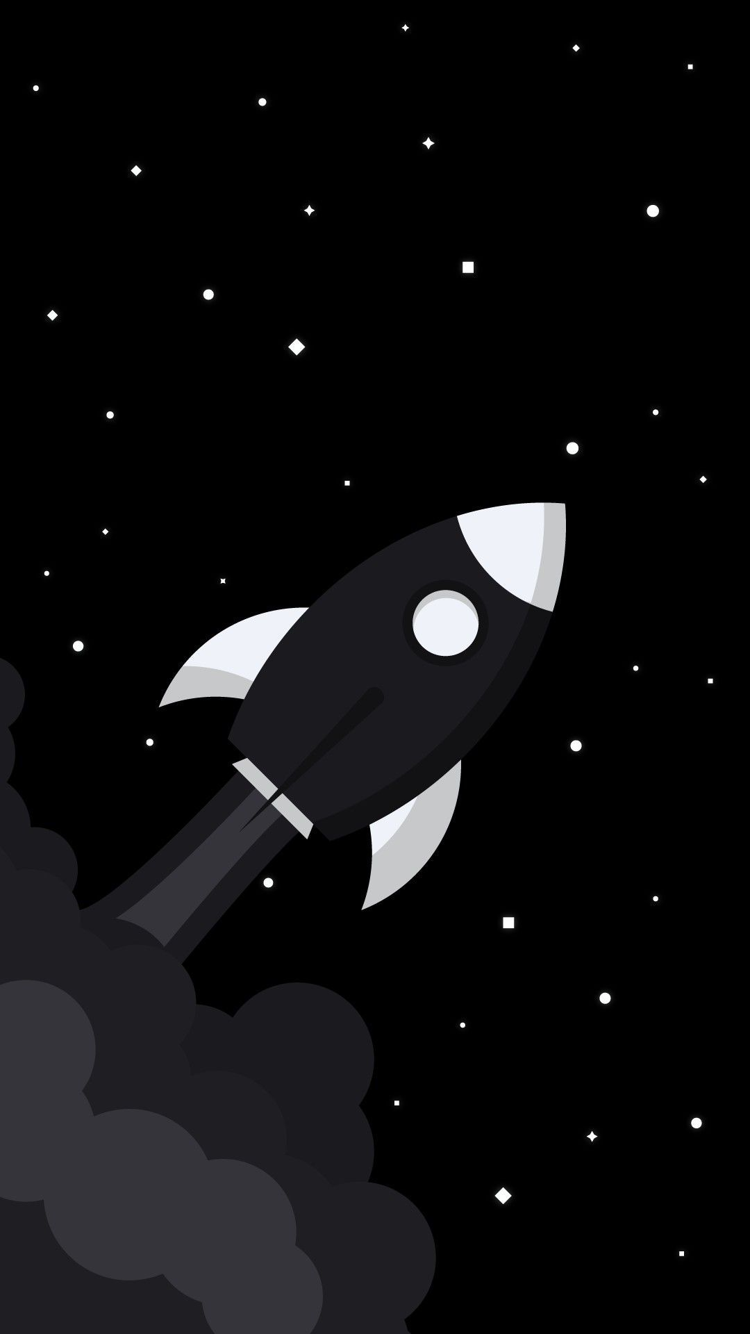 Black Minimalist Rocket Wallpapers - Wallpaper Cave