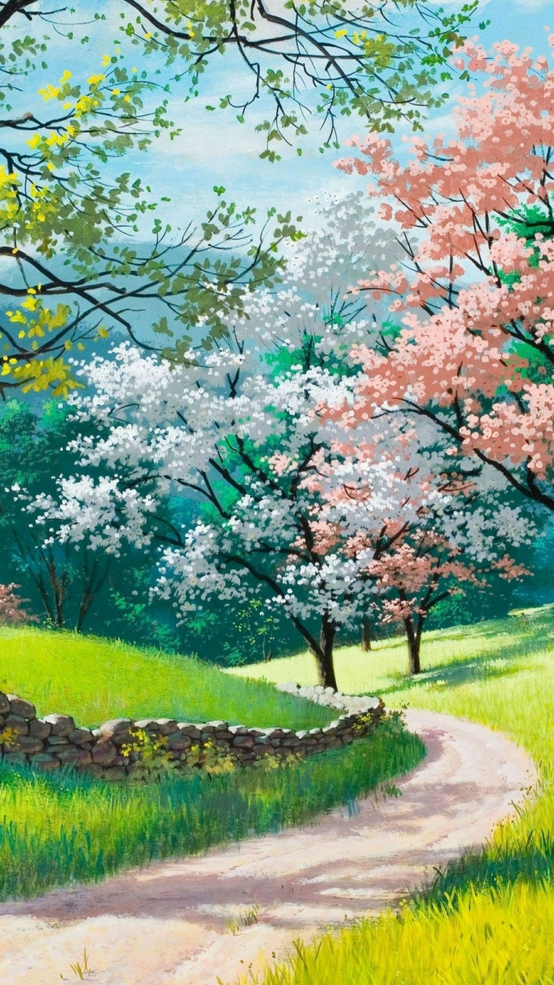 Spring Landscape Iphone Wallpapers Wallpaper Cave
