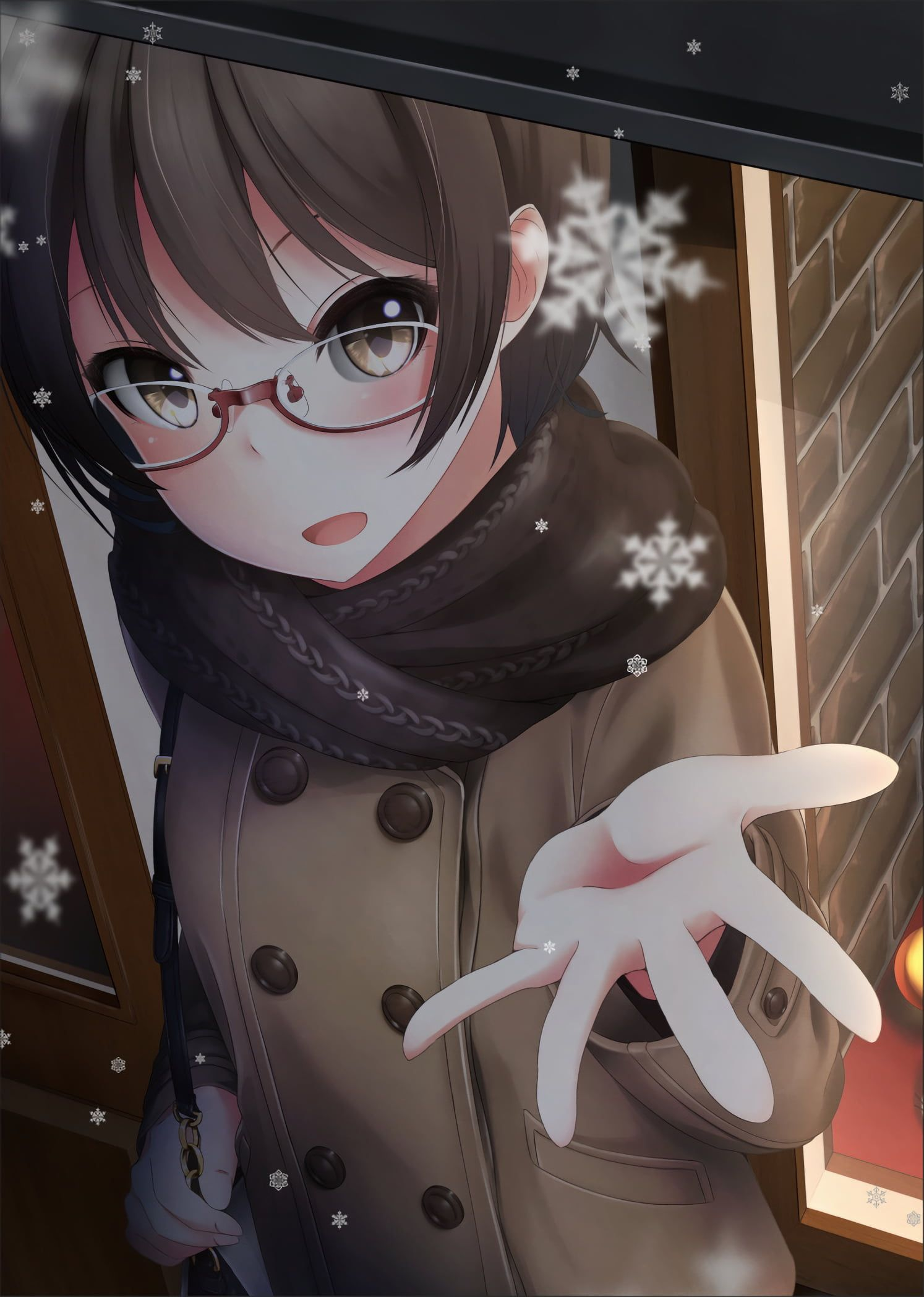 Anime Cute Glasses Girl Hd Wallpapers Wallpaper Cave