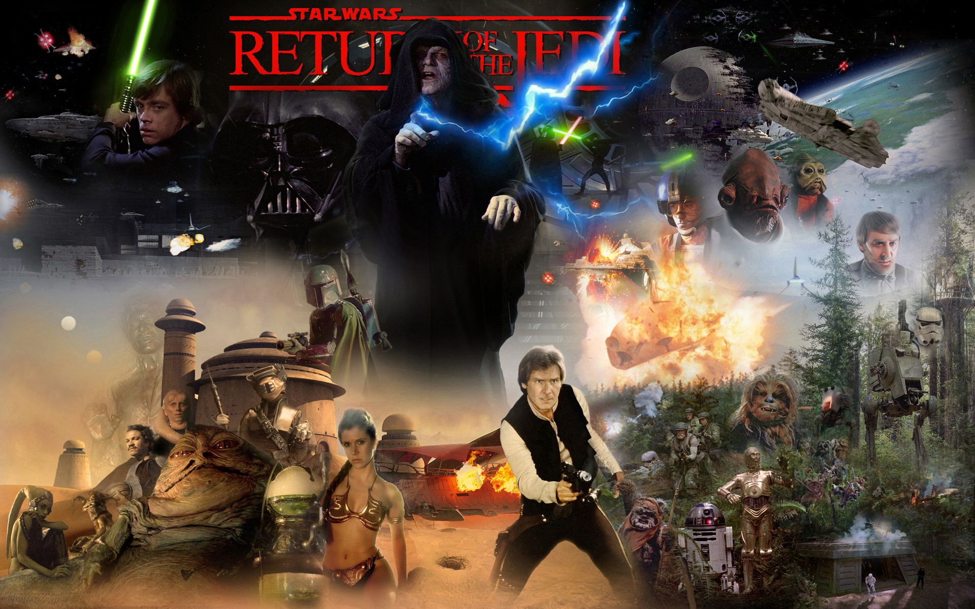 Star Wars Return Of The Jedi Wallpapers Wallpaper Cave
