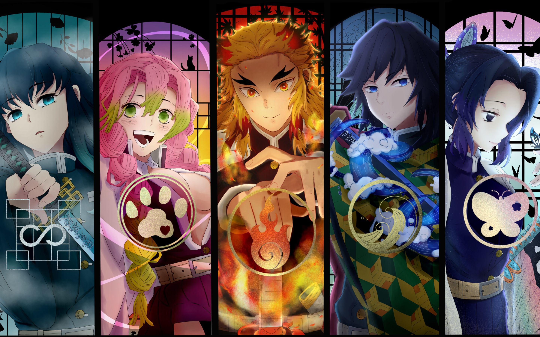 Anime Demon Slayer Kimetsu Kimetsu No Yaiba Wallpapers ...