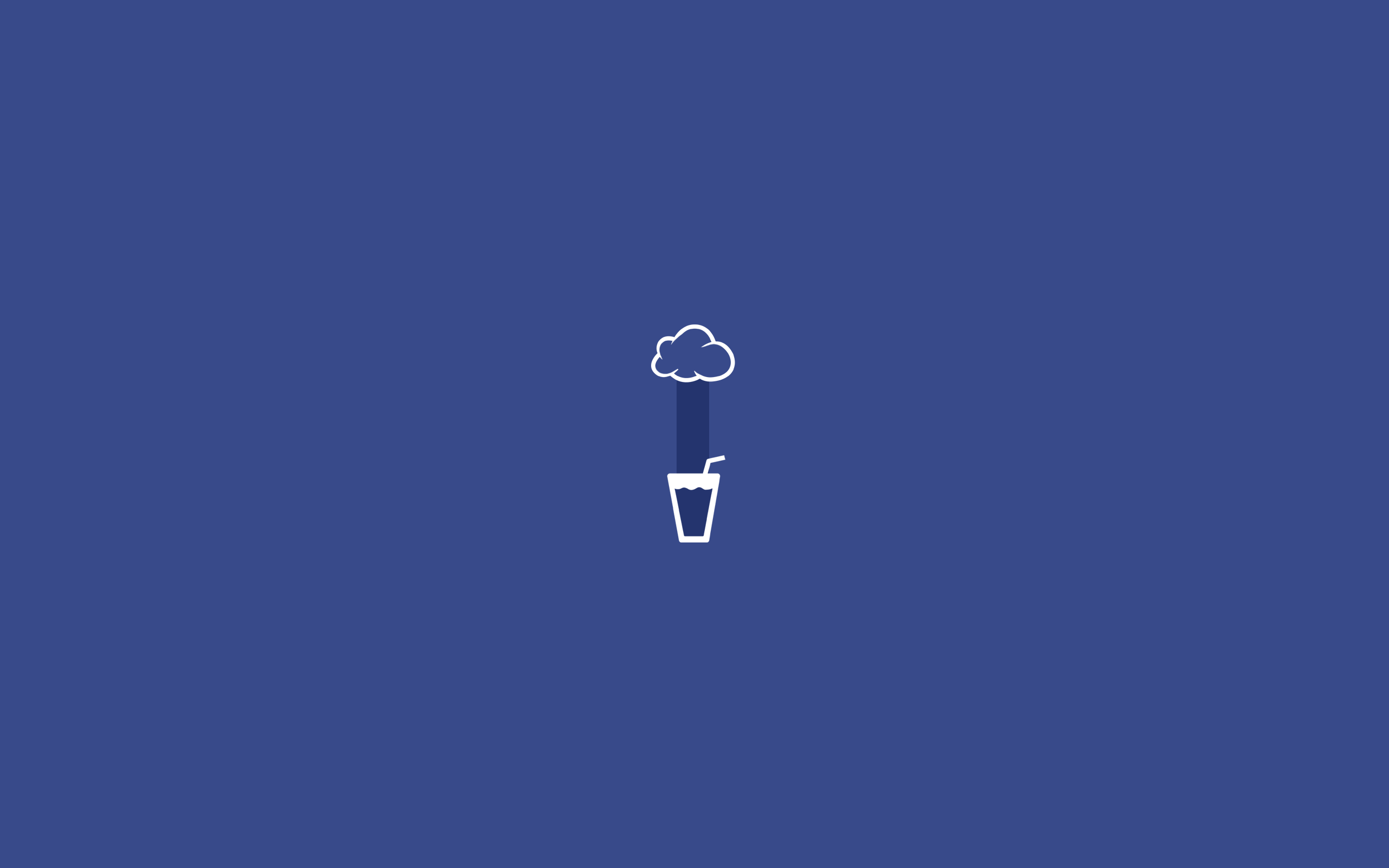 Minimalist Desktop Dark Blue Wallpapers ...