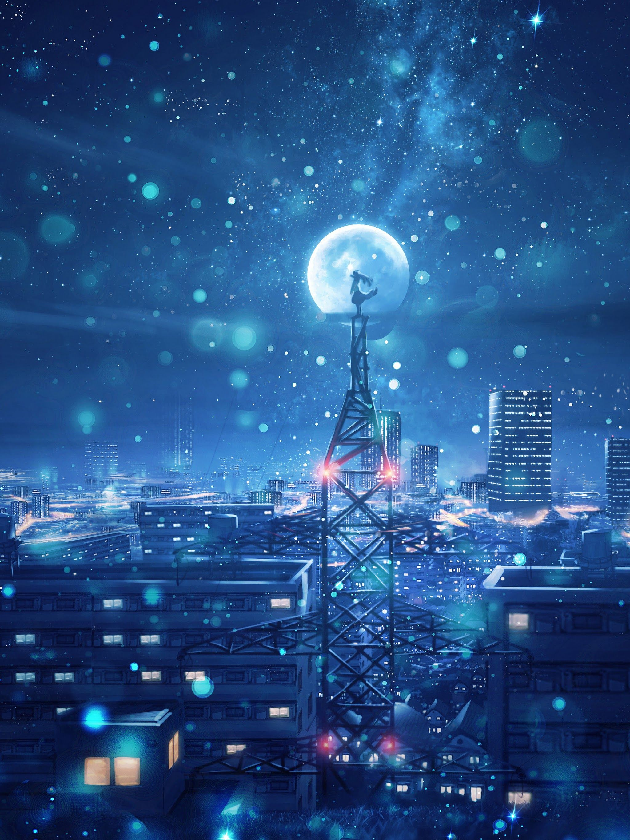 4k Night Sky Anime Portrait Wallpapers Wallpaper Cave