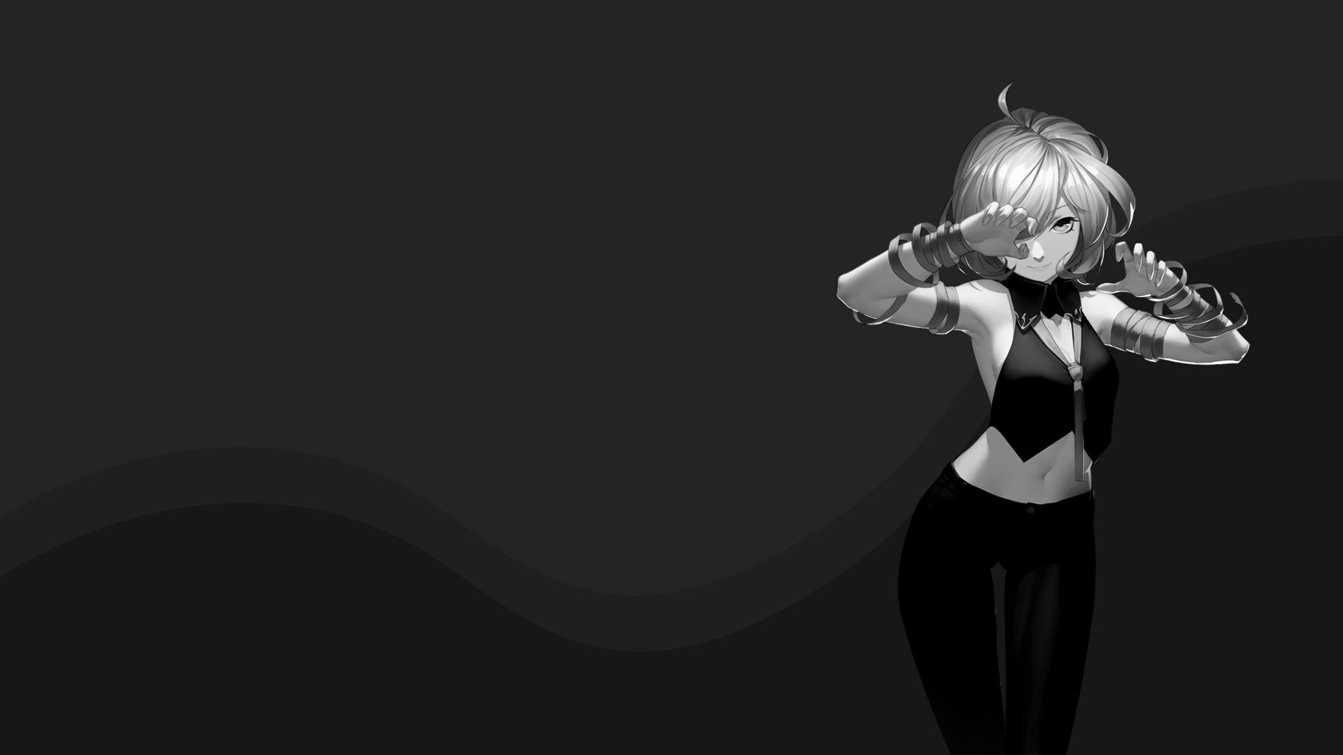 Girl Black And White Anime Wallpapers Wallpaper Cave
