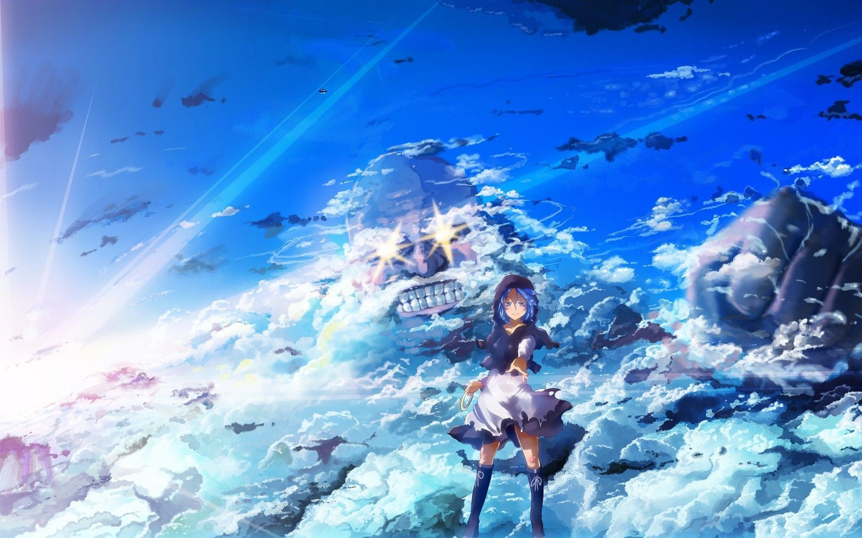 Free Download Cool Blue Anime Image