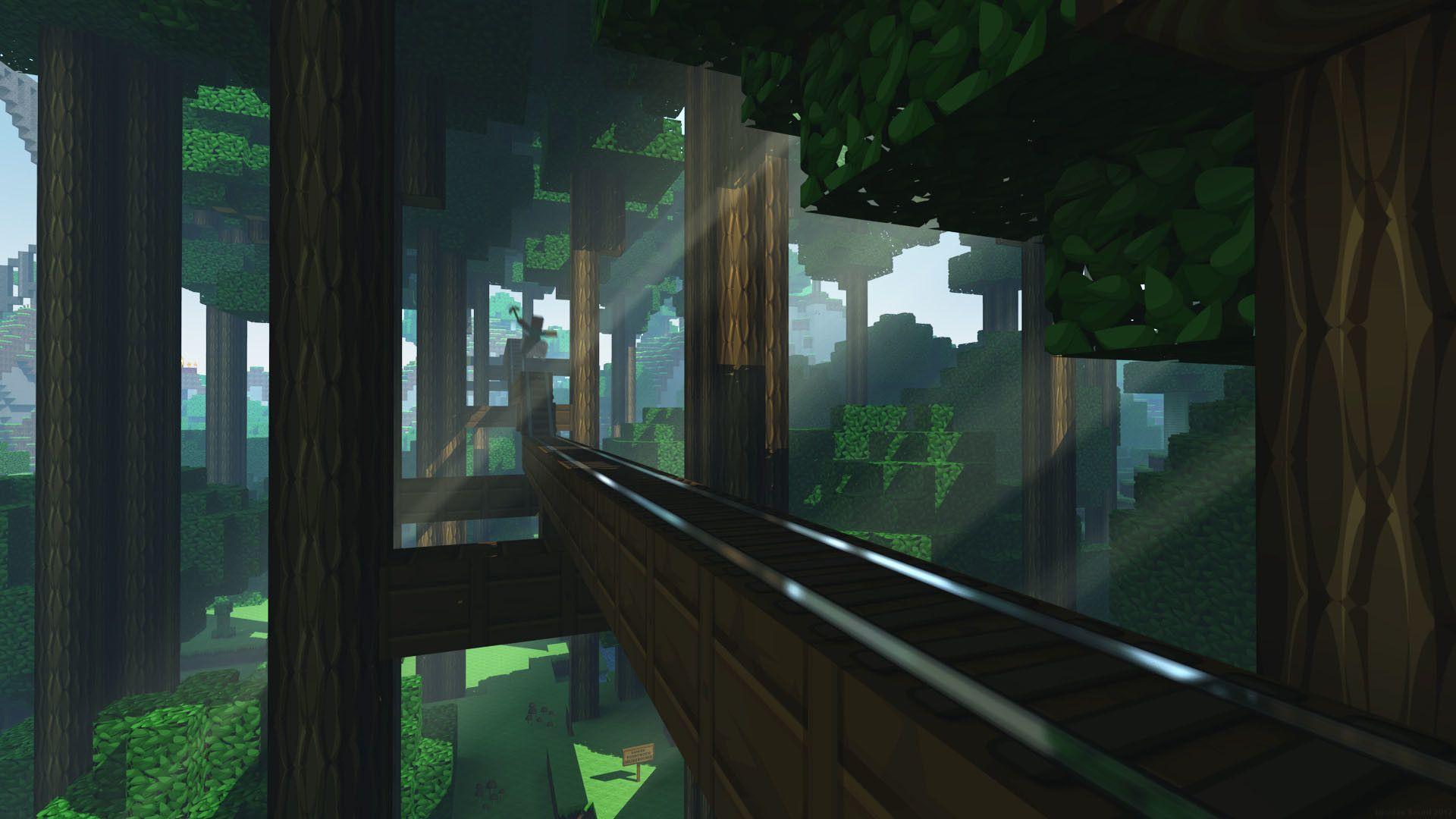 Desktop Hd Minecraft Shaders Wallpapers Wallpaper Cave