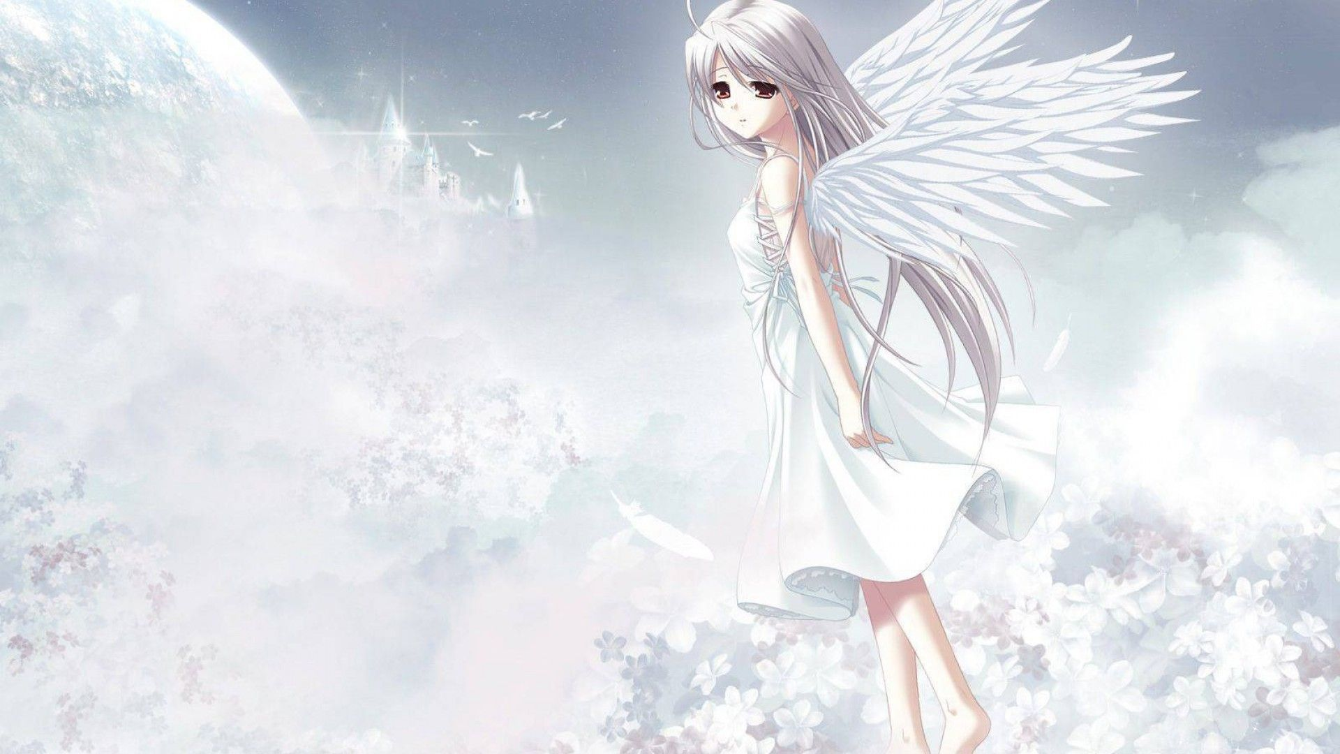 Angel Anime Girl Wallpapers - Wallpaper Cave