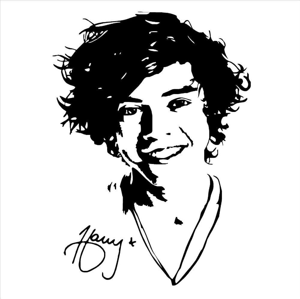 Mural ONE DIRECTION HARRY STYLES Wall Art Sticker Decal Girls