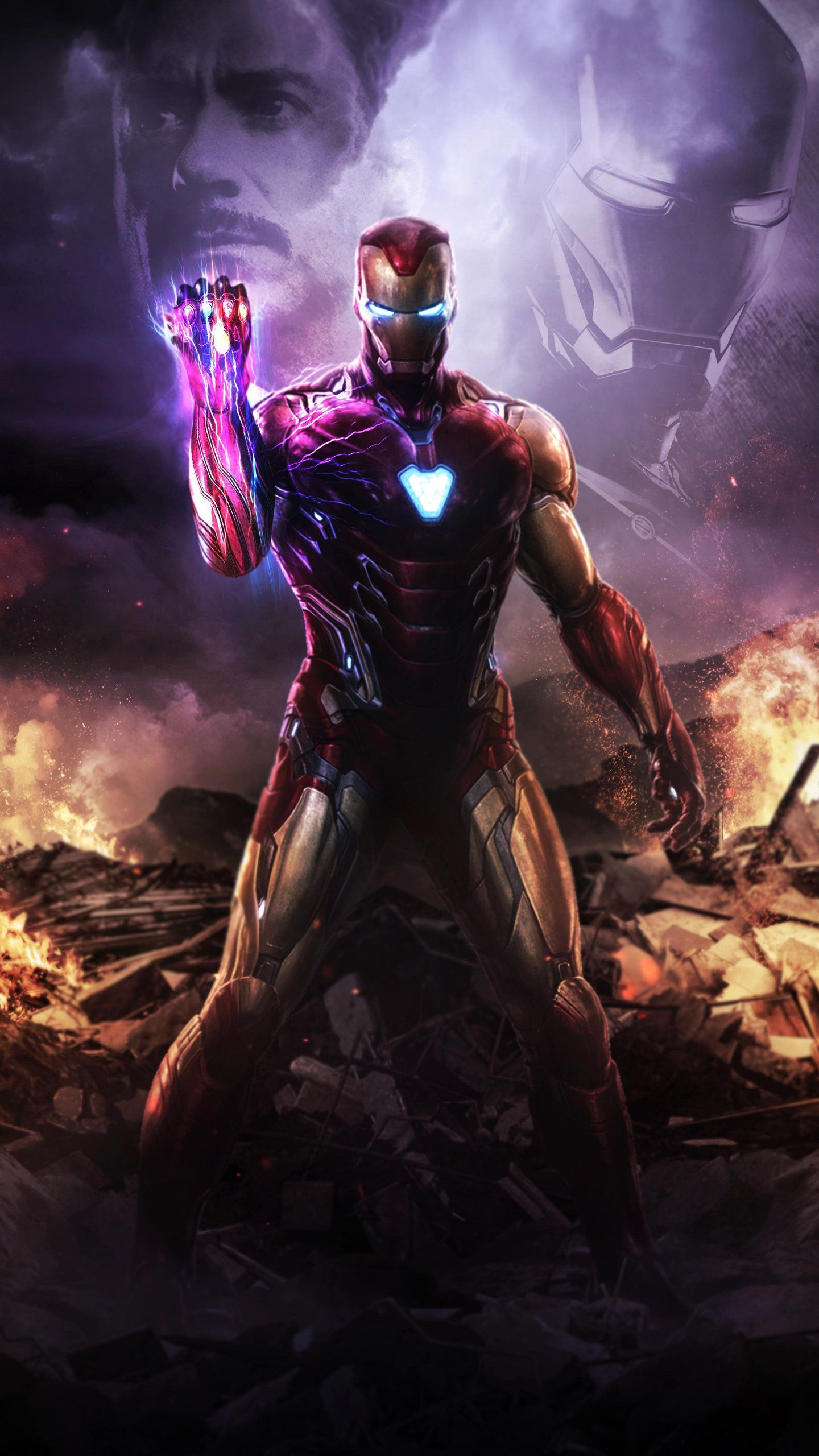 Mobile Iron Man With Infinity Stones Wallpapers ...