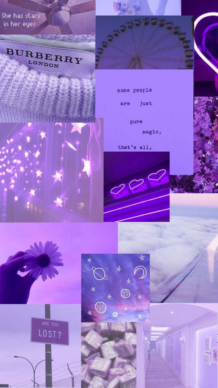 Aesthetic purple wallpapers