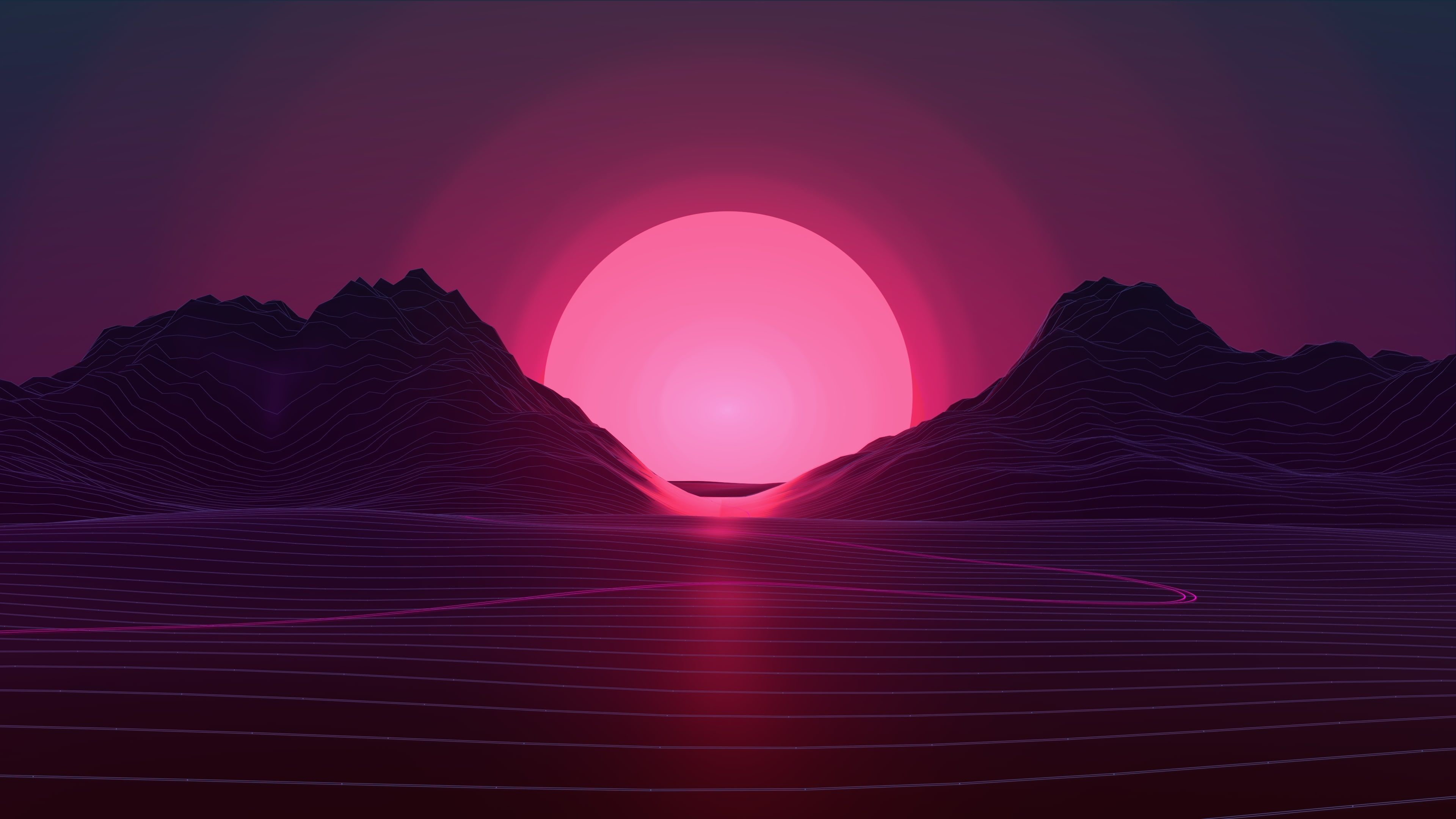 Sunset Aesthetic Neon Ps4 Hd Wallpapers Wallpaper Cave