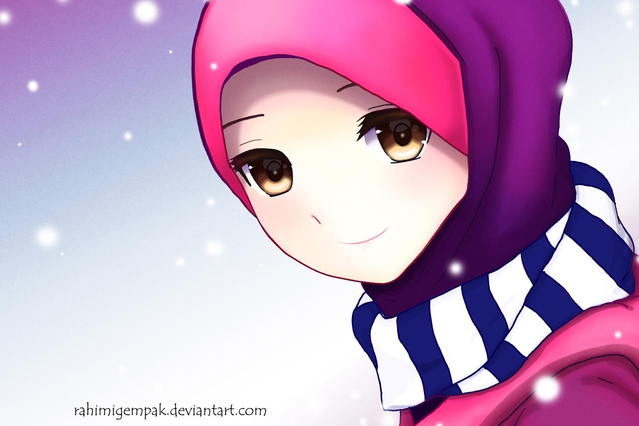 Hipster Anime Islamic Girl