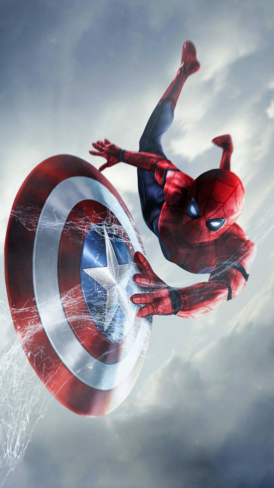 Spider Man Captain America Shield Wallpapers
