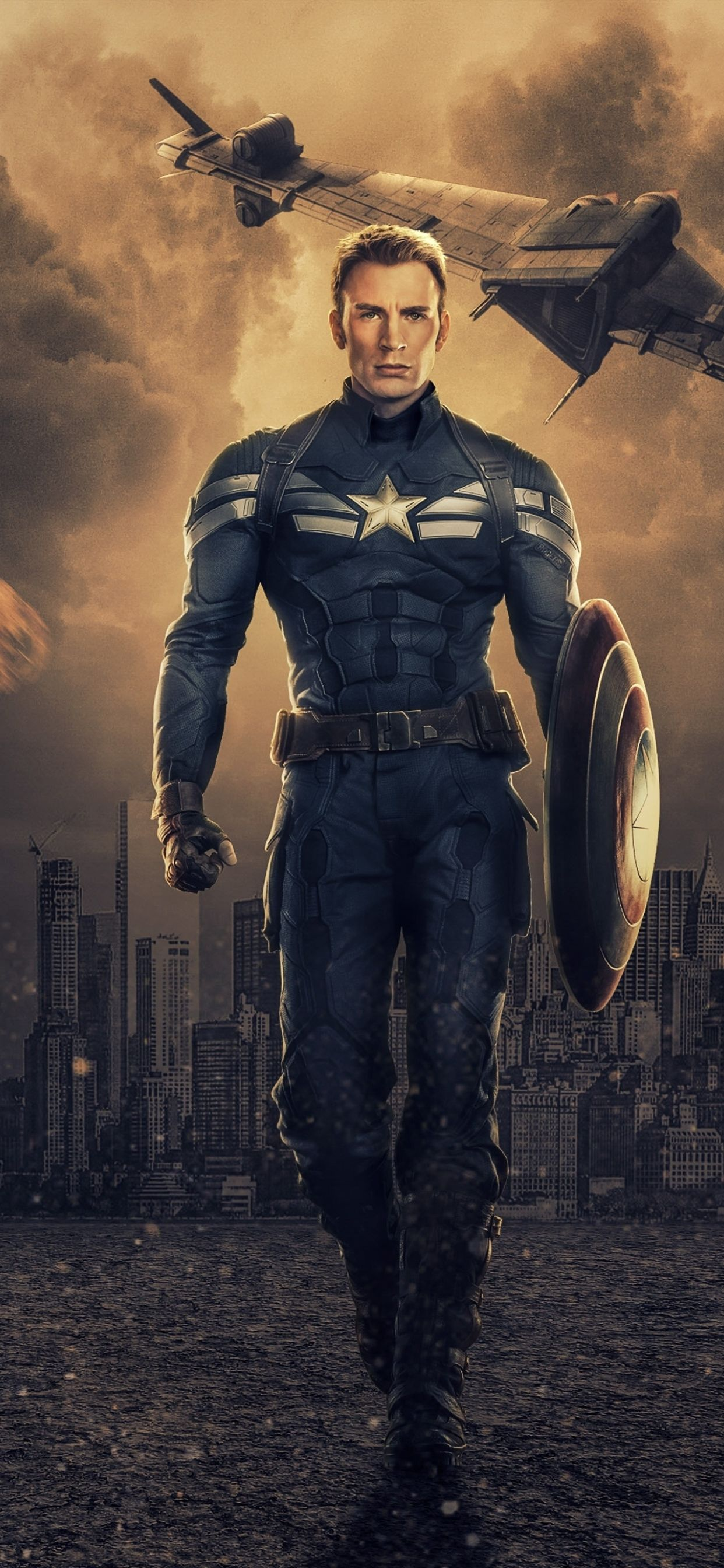1242x2688 Chris Evans as Captain America Iphone XS MAX Wallpapers