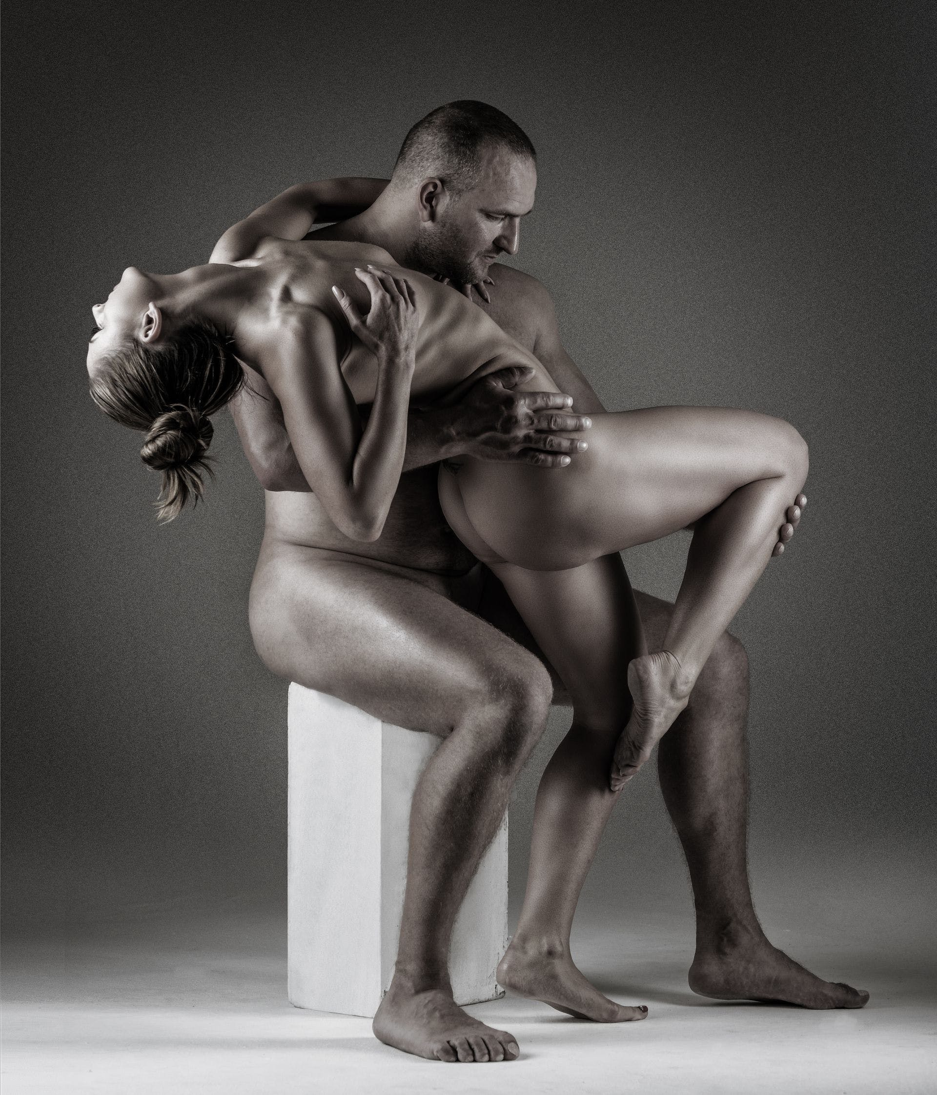 Muscular nude couples