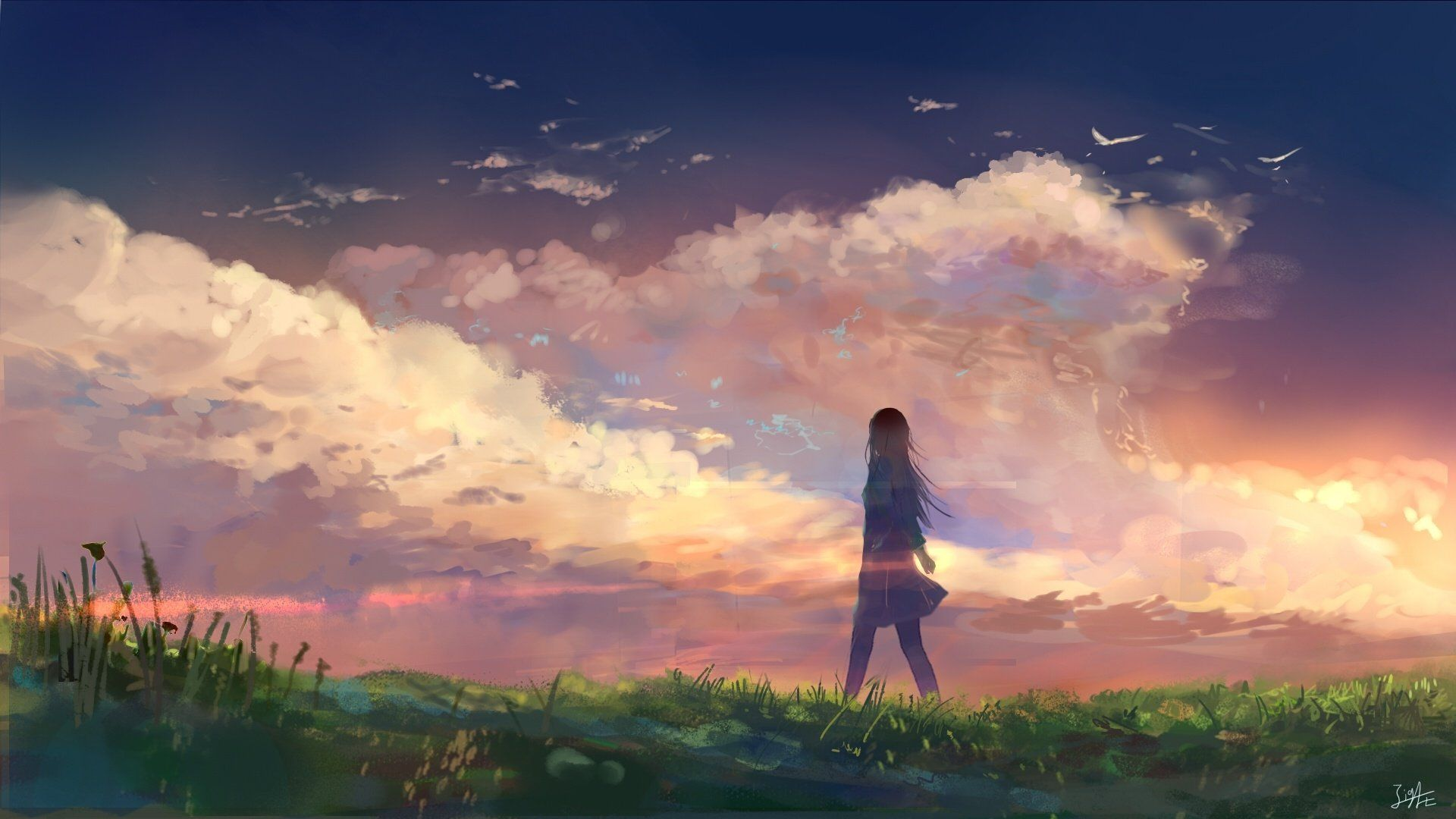 Cool Anime Sunset Wallpapers - Wallpaper Cave