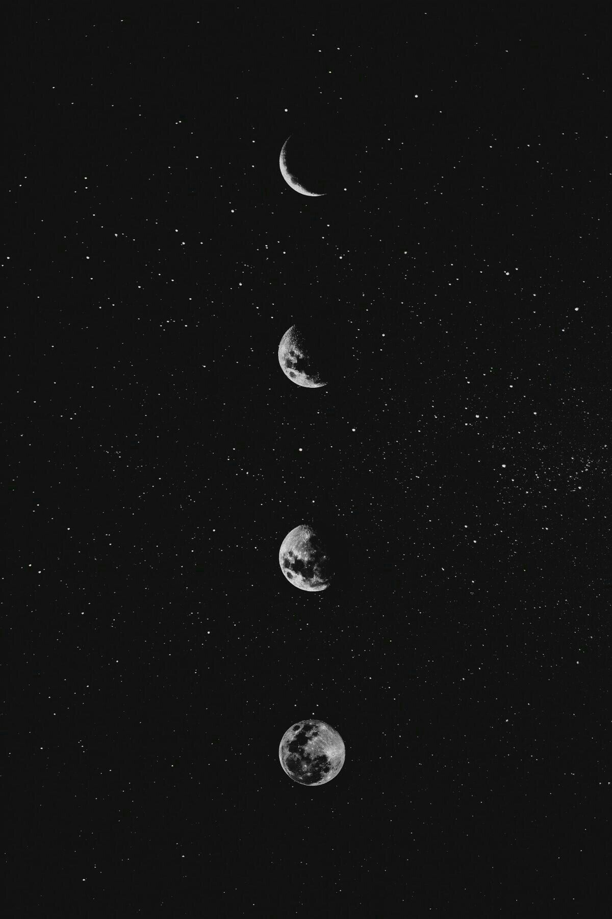 Dark Aesthetic Stars And Moon Wallpapers   Wallpaper Cave