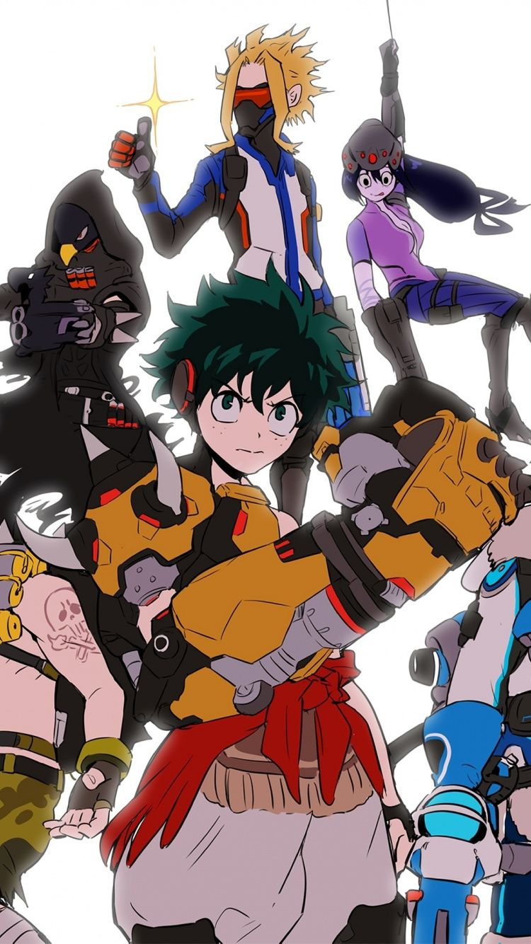 Download 750x1334 wallpapers anime, boku no hero academia
