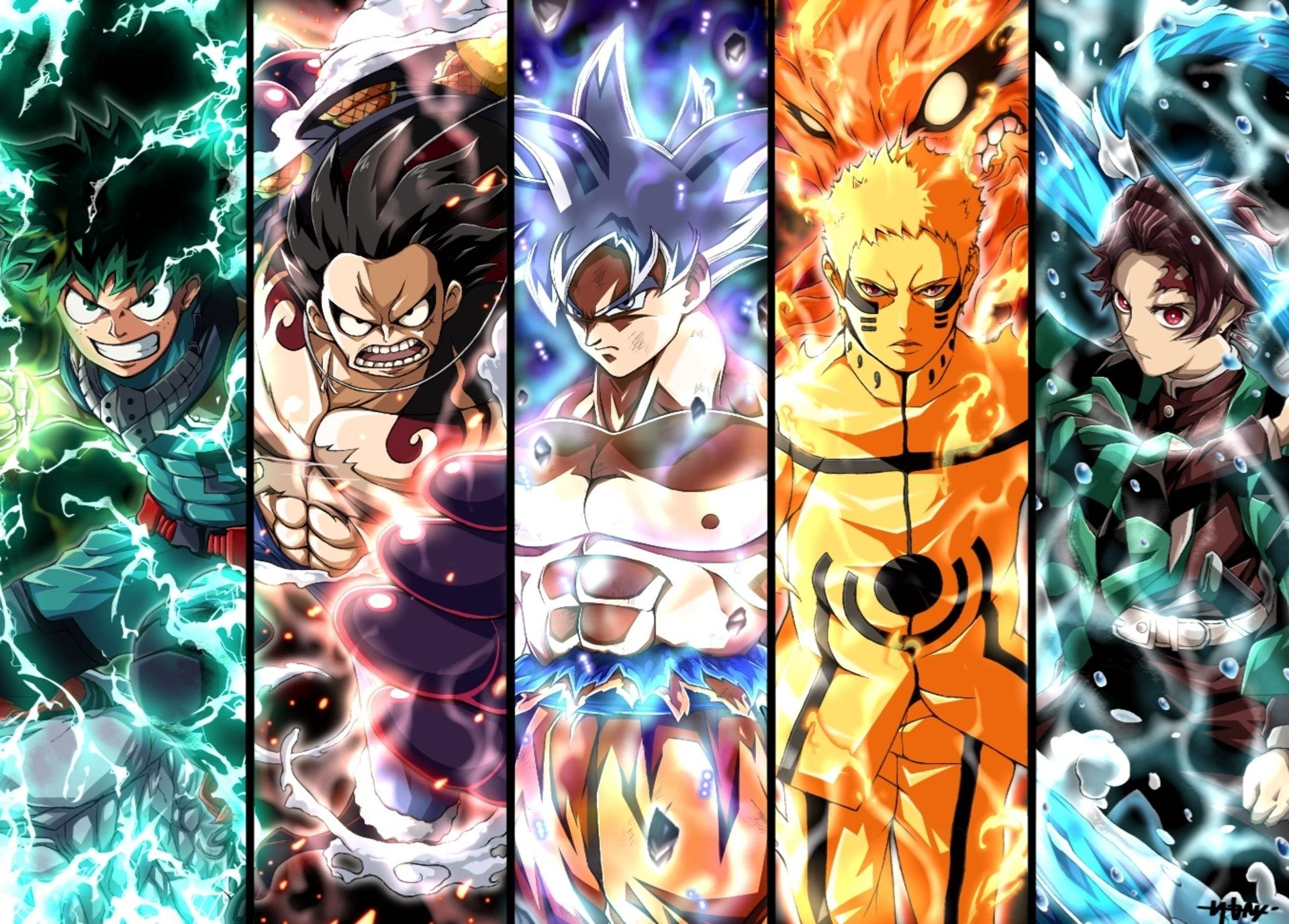 Anime Dragon Ball Naruto One Piece Wallpapers Wallpaper Cave