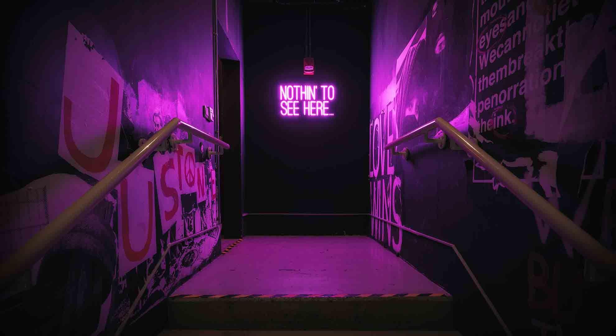 Purple Neon Aesthetic HD Desktop Wallpapers - Wallpaper Cave
