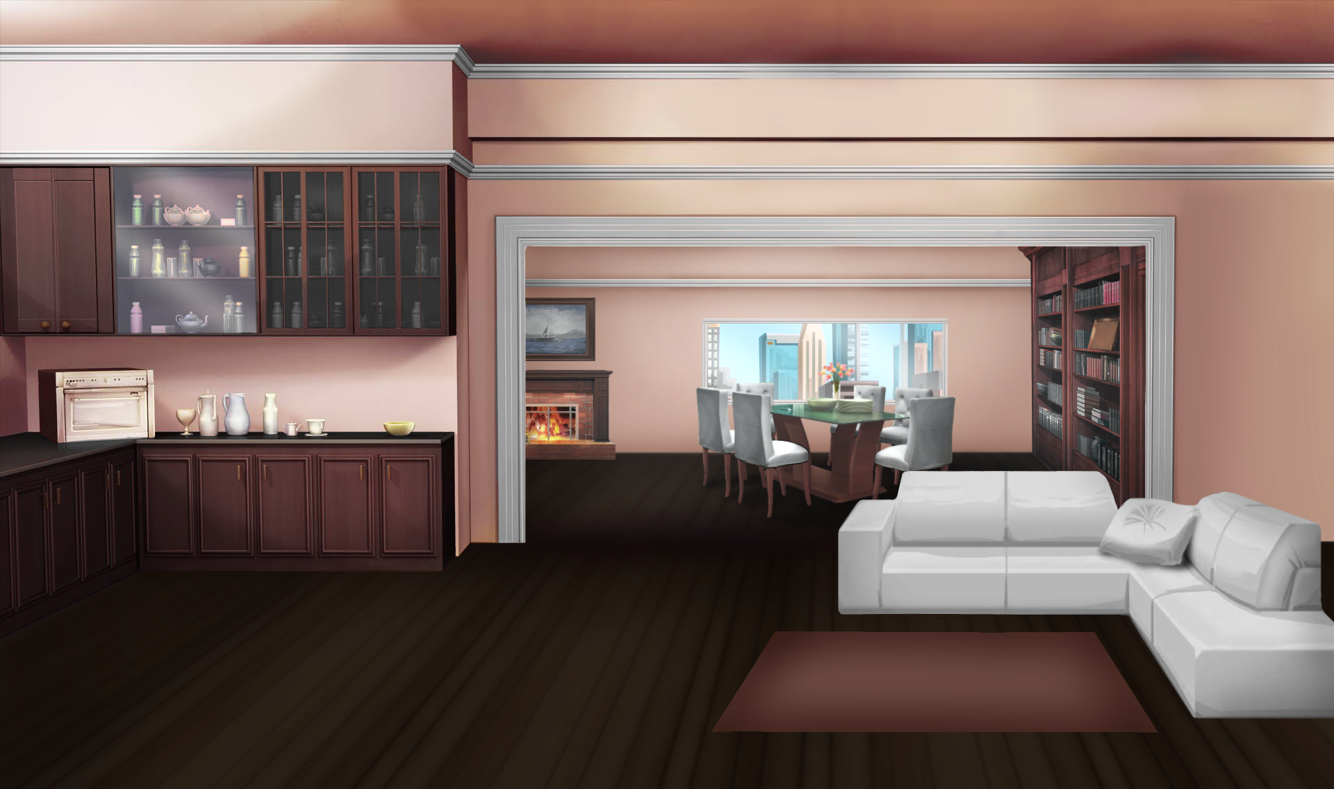 Inside The House Anime Wallpapers Wallpaper Cave