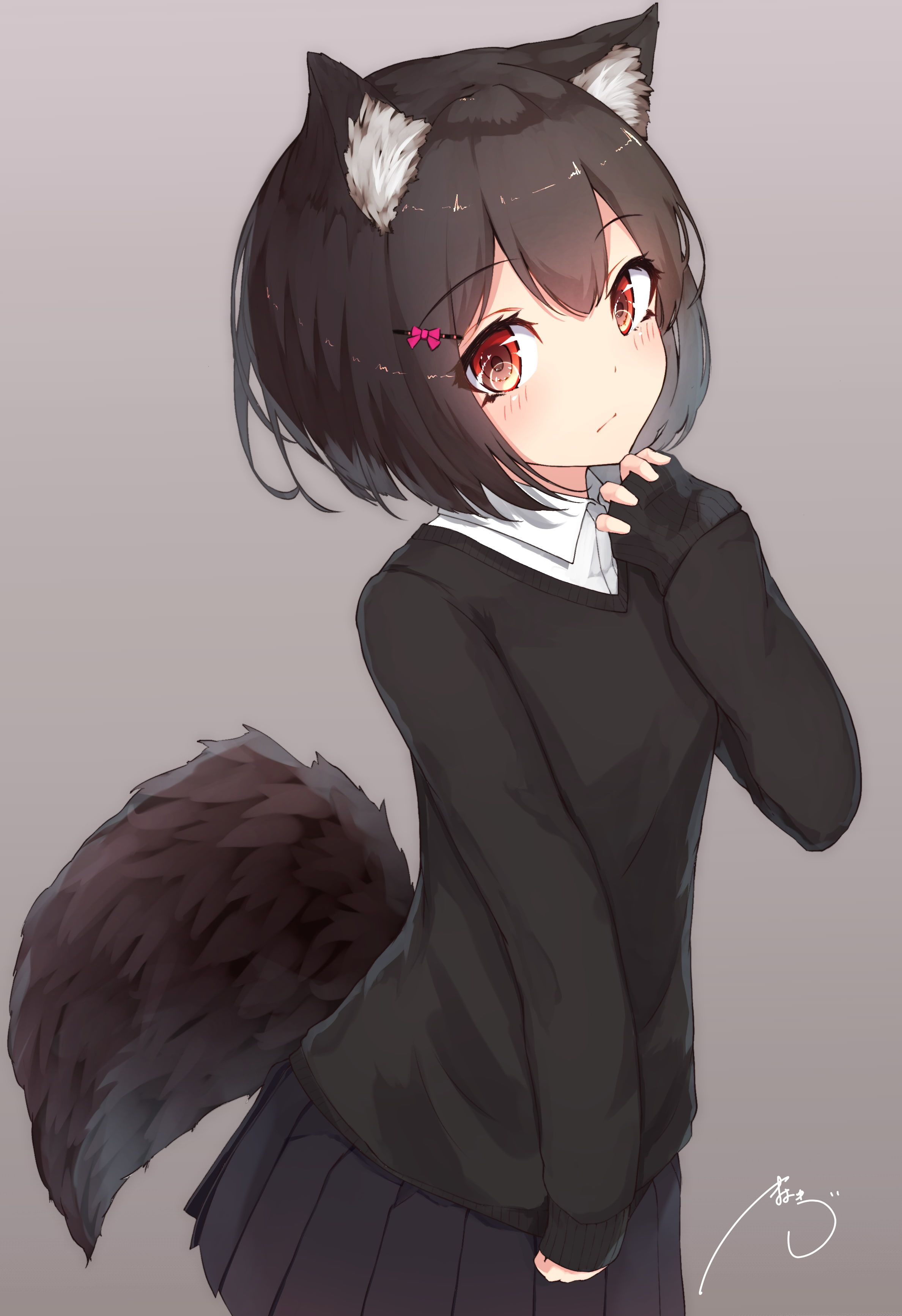 Anime Girl With Wolf Ears Wallpapers - Wallpaper Cave