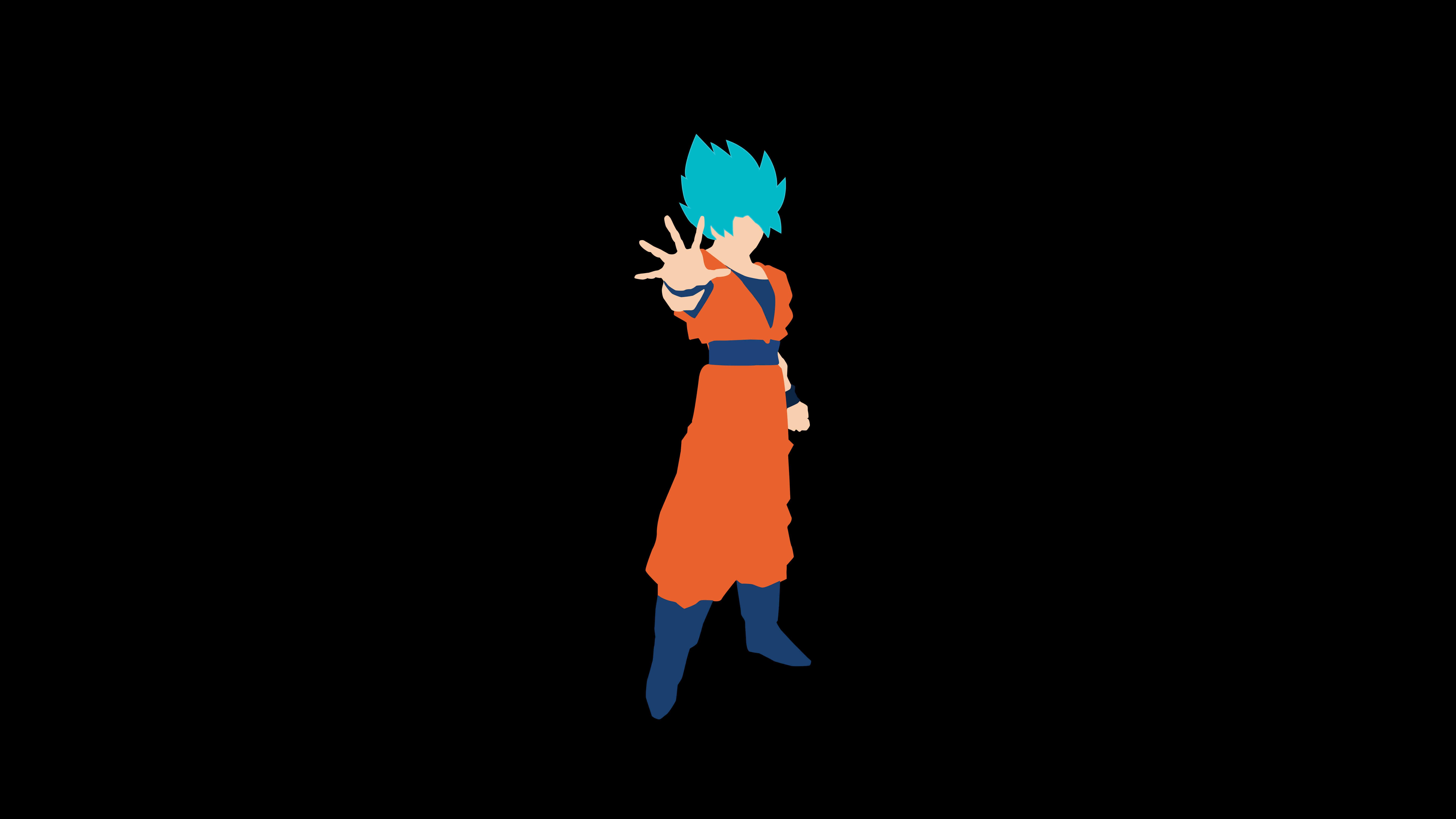 Goku Minimalist Black Wallpapers Wallpaper Cave