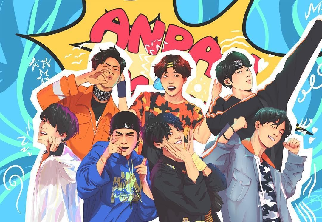 Anime BTS Laptop Wallpapers - Wallpaper Cave