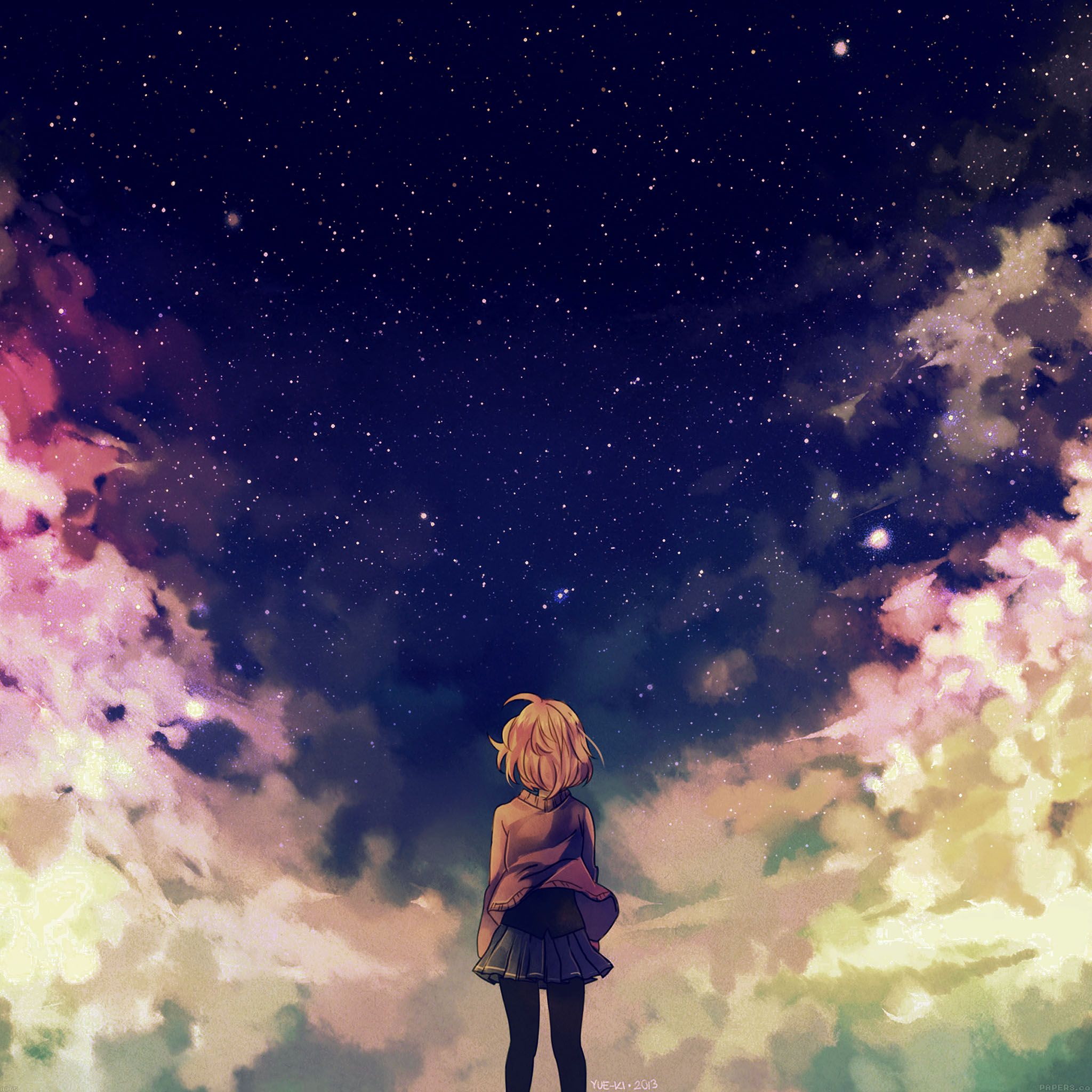 Galaxy Girl Anime Wallpapers Wallpaper Cave