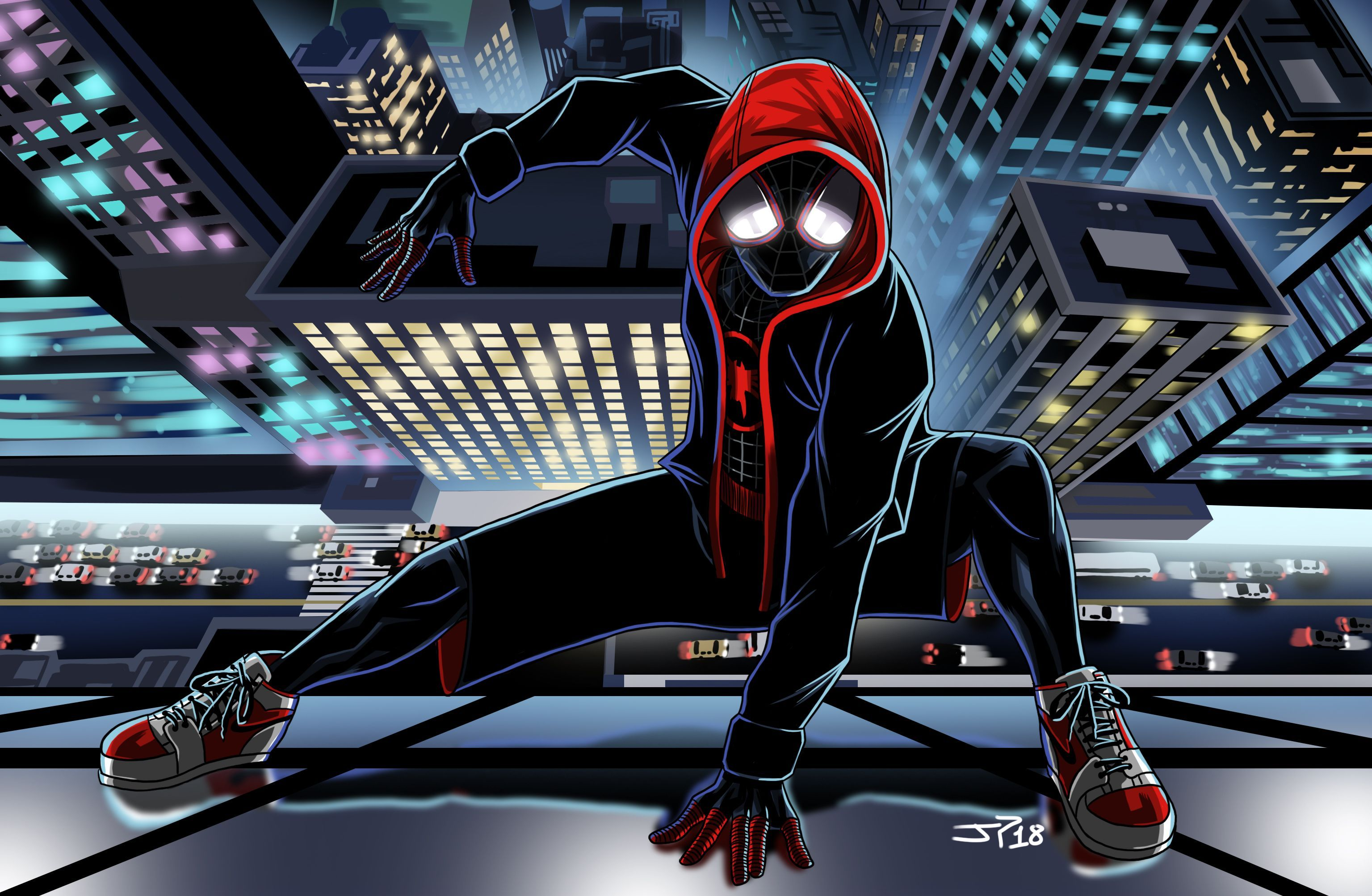 Spider Man Desktop Miles Morales Wallpapers - Wallpaper Cave