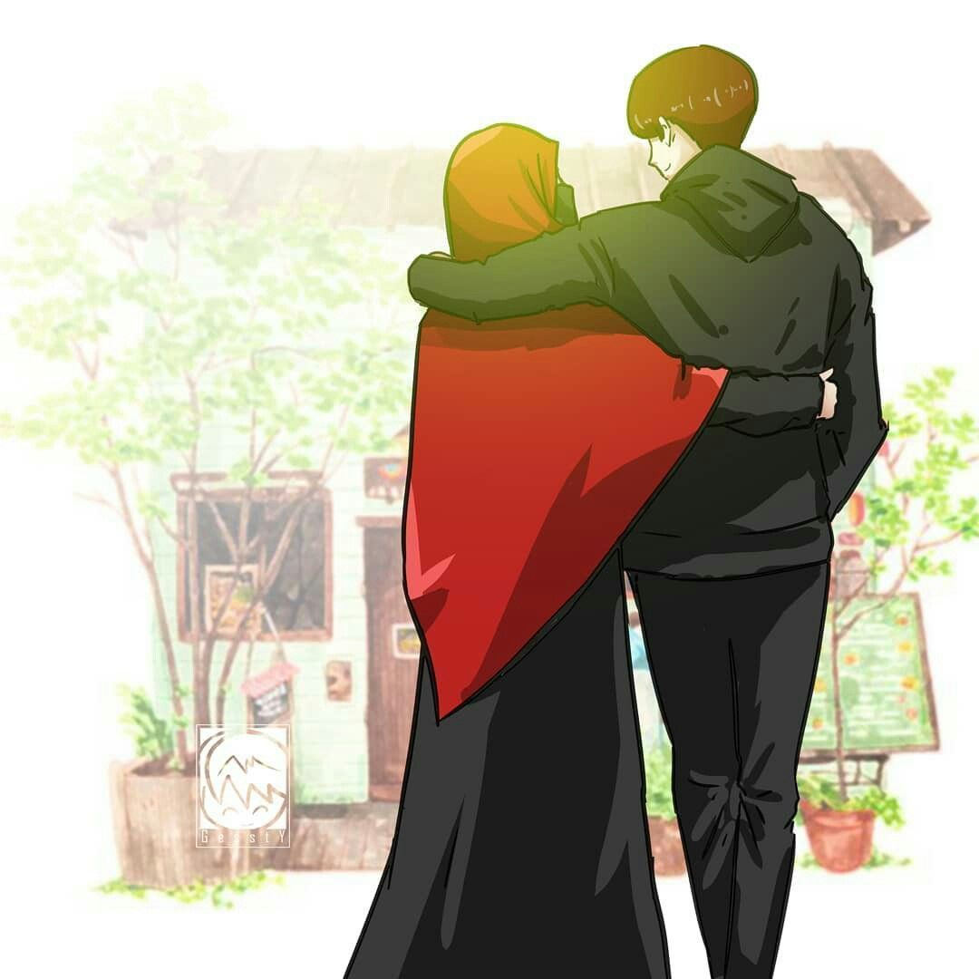 Muslim Couple Cartoon Wallpapers
