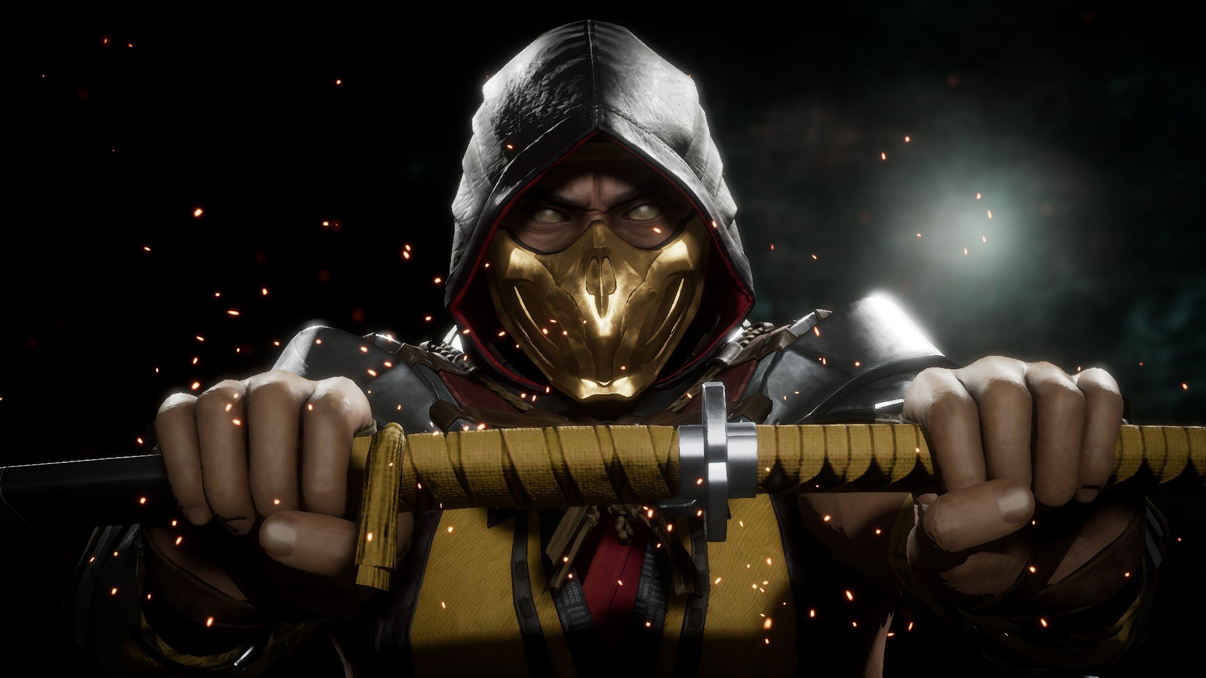 Mortal Kombat Scorpion 4k Desktop Wallpapers Wallpaper Cave
