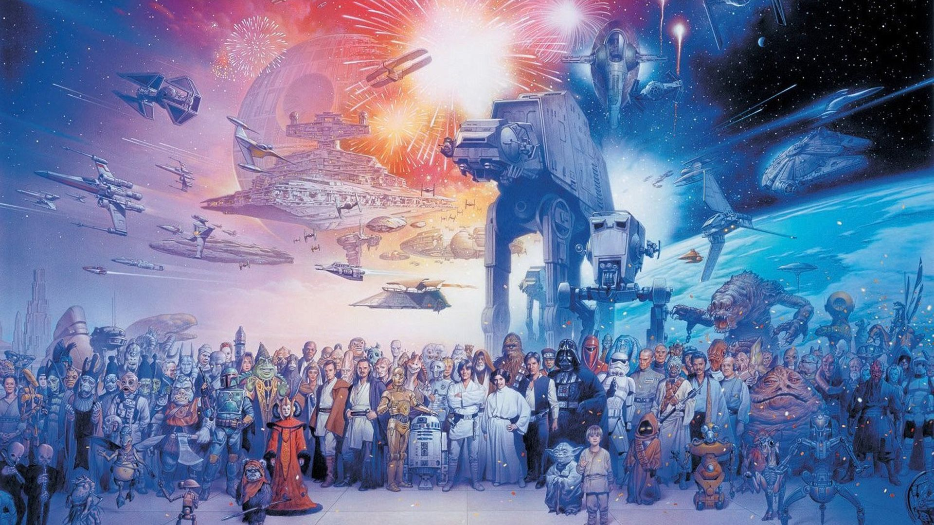 Star Wars Retro 1920x1080 Wallpapers Wallpaper Cave