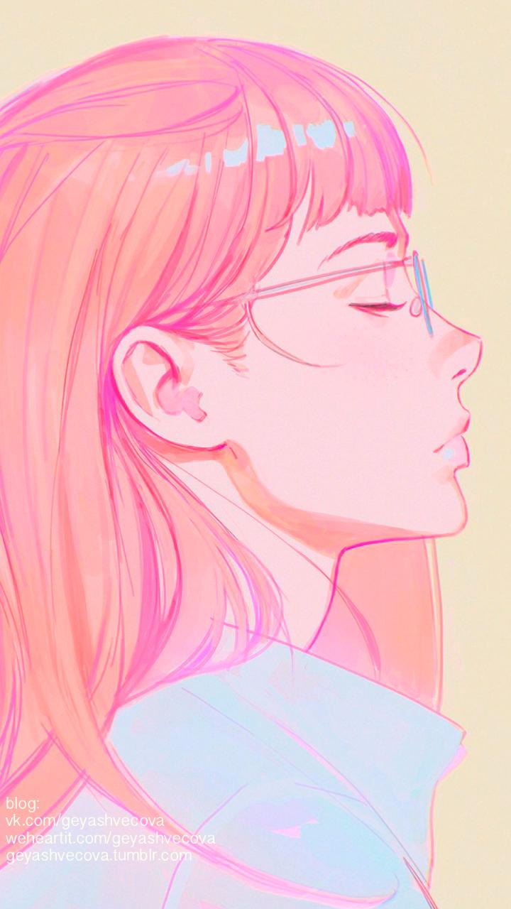 Korean Aesthetic Anime Girl Wallpapers Wallpaper Cave