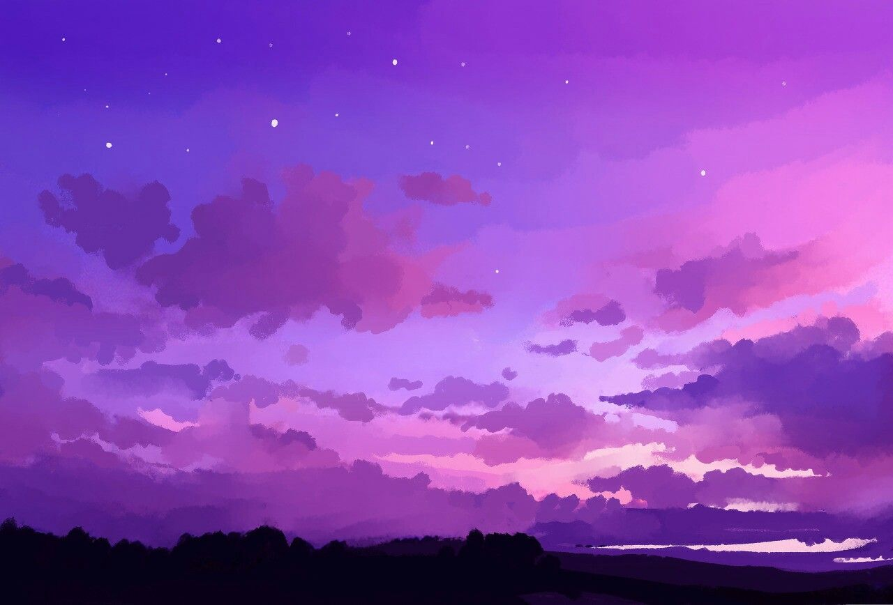 Landscape Purple Aesthetic Wallpapers Wallpaper Cave