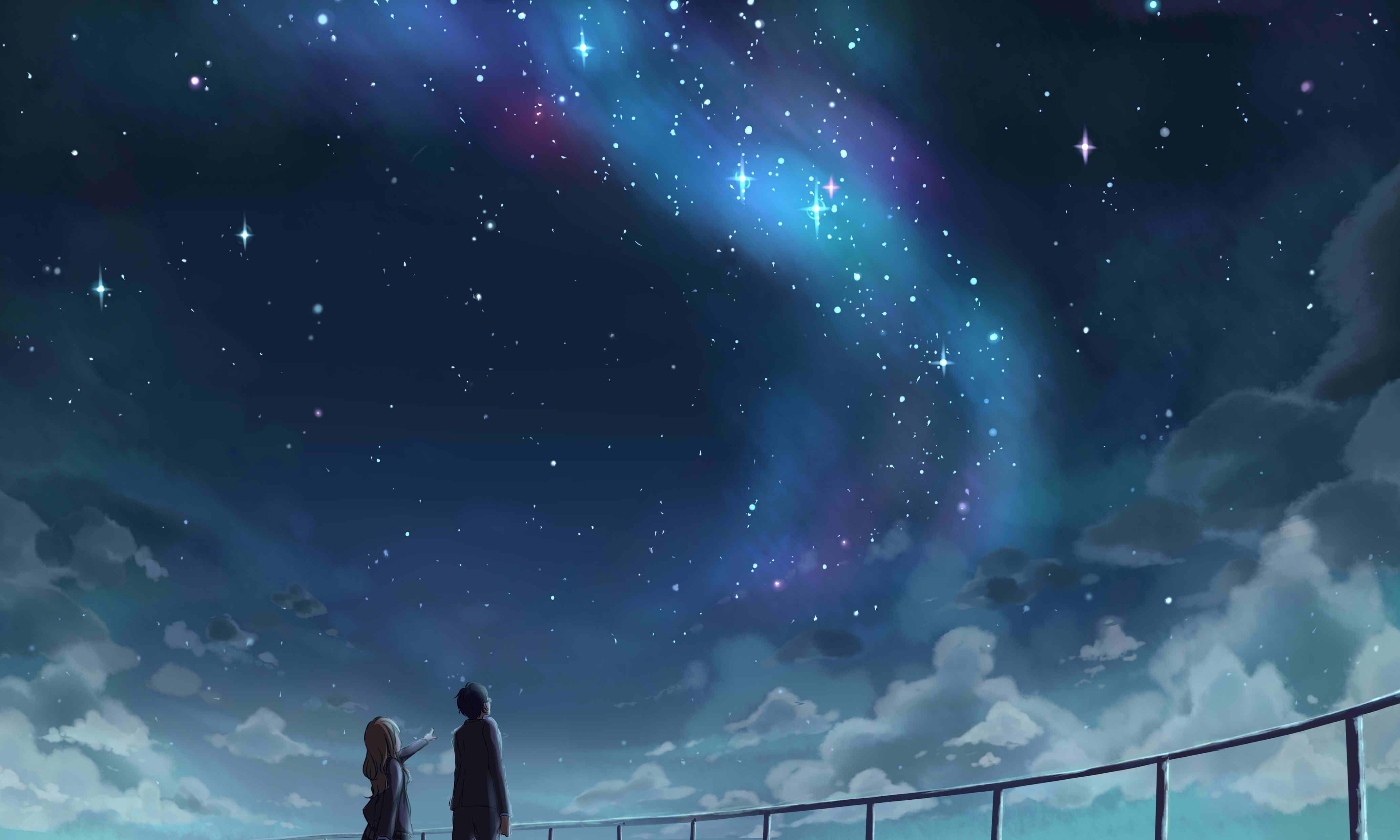 Aesthetic Anime Stars Wallpapers Wallpaper Cave