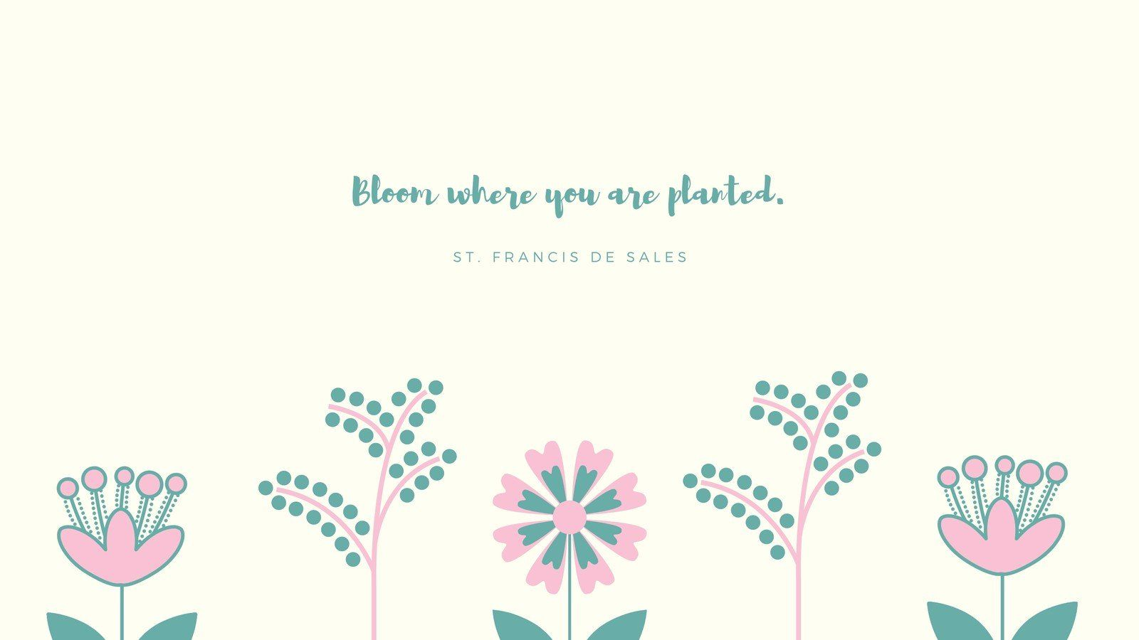 Minimalist Floral Quote Spring Desktop Wallpapers